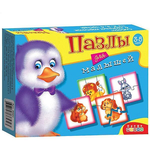 Пазлы для малышей (2531), Дрофа-МедиаПазлы для малышей<br>Пазл для малышей 2531 прекрасно подходит для первого знакомства малыша с мозаикой, способствует формированию навыка соединения целого изображения из двух, трёх и четырех элементов. В игре набор из шести изображений животных (пингвин, собака, заяц, белка, львенок), состоящих из крупных деталей, которые соединяются с помощью пазлового замка. Игры этой серии помогают в развитии зрительного восприятия, мелкой моторики и координации движений рук, наглядно-образного мышления, памяти и внимания.<br><br>Дополнительная информация:<br><br>- материал: картон<br>- количество картинок: 6 шт -  (из 2-х, 3-х, 4-х частей)<br>- размер упаковки: 17х13х3  см<br>- масса: 80 г<br><br>Пазлы для малышей (2531), Дрофа-Медиа можно купить в нашем магазине.<br><br>Ширина мм: 170<br>Глубина мм: 130<br>Высота мм: 30<br>Вес г: 90<br>Возраст от месяцев: 36<br>Возраст до месяцев: 84<br>Пол: Унисекс<br>Возраст: Детский<br>SKU: 3381970