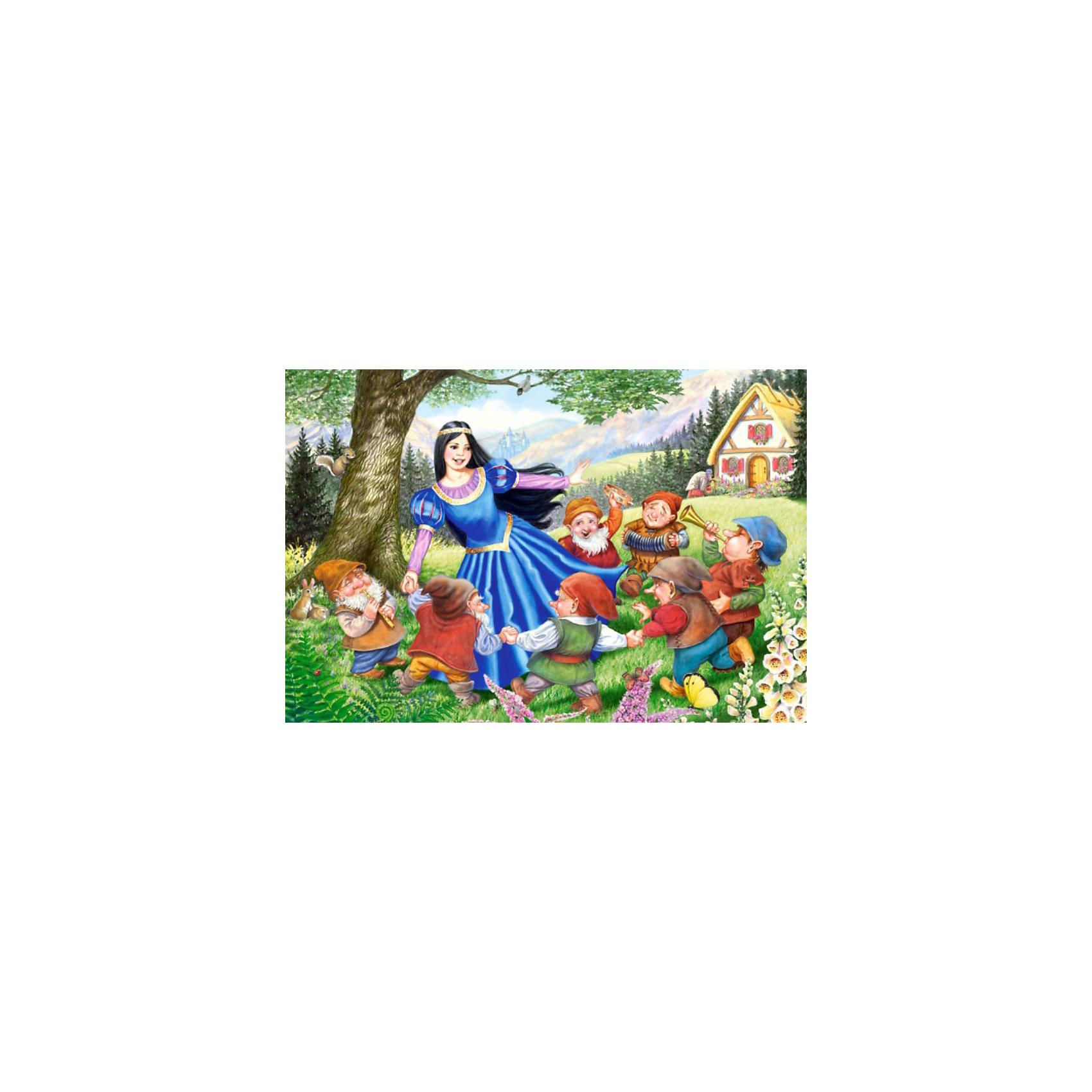 Castorland Пазлы Maxi Белоснежка и 7 гномов, 40 деталей, Castorland кукольные домики chicco домик белоснежка и 7 гномов