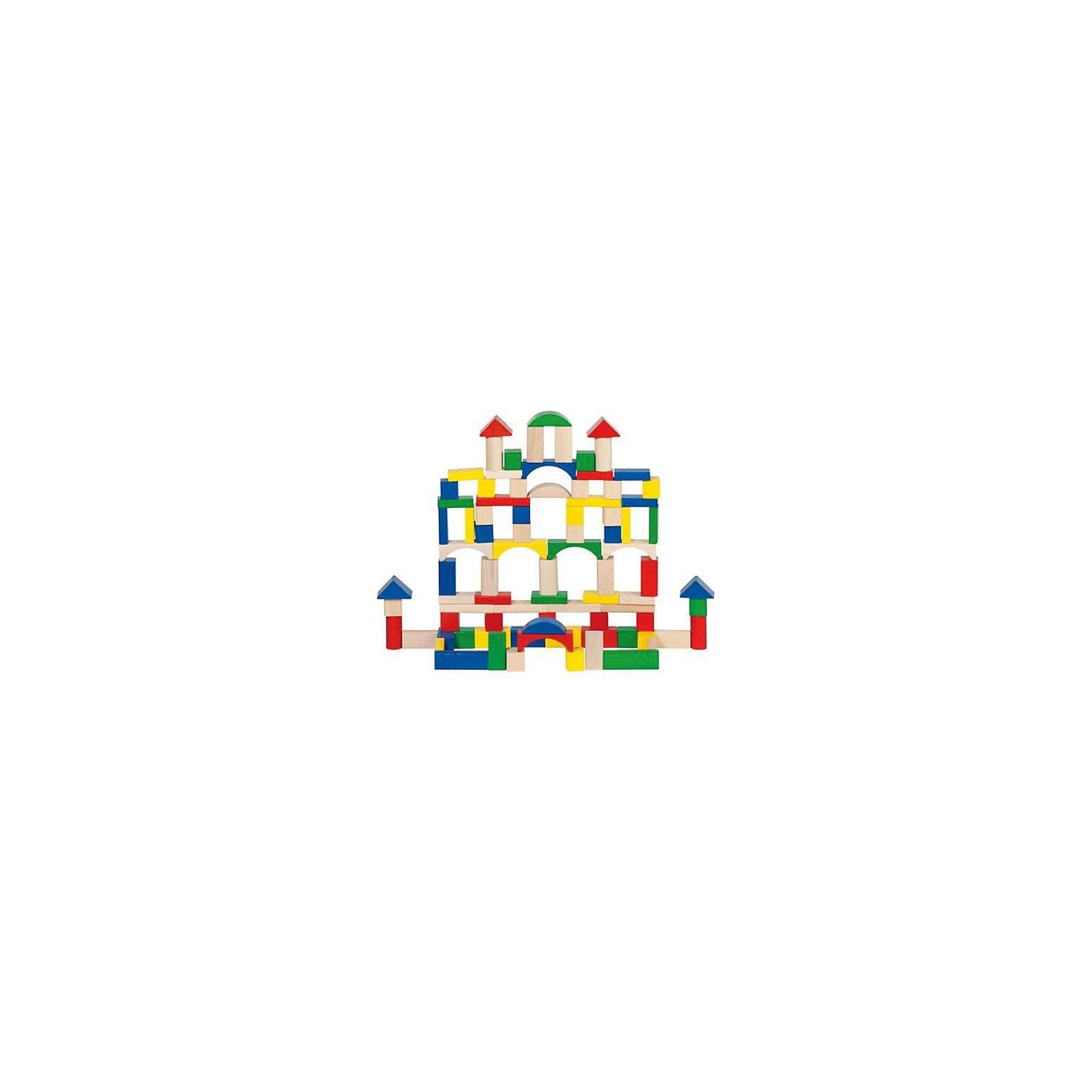 goki Игровой набор из деревянных строительных кубиков, GOKI elc деревянных кубиков