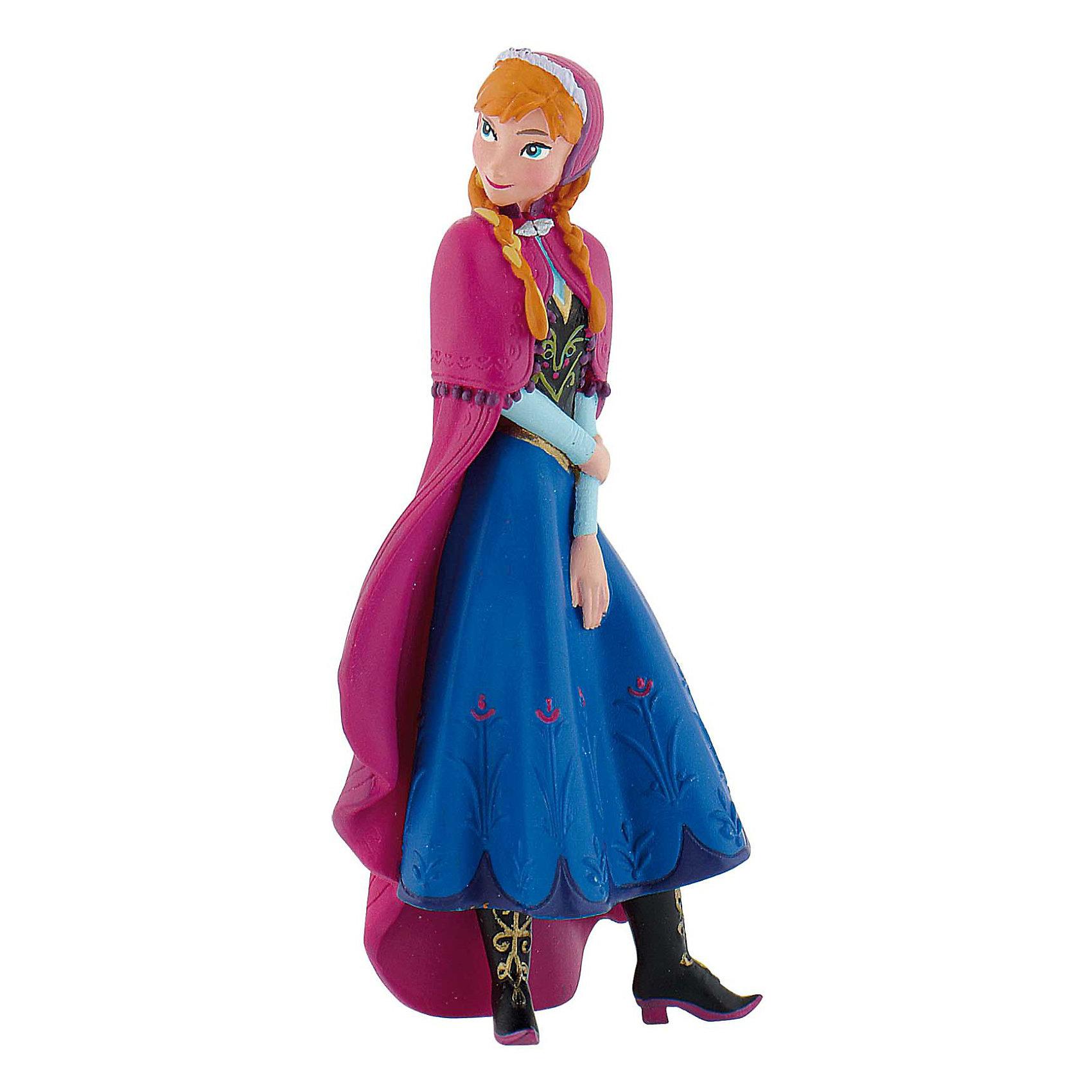 Фигурка Анна,  DisneyАнна – героиня мультфильма студии Дисней «Холодное сердце», в котором рассказывается интерпретированная история Снежной королевы. Каково это – быть сестрой повелительницы зимы и метели? Анна знает, и, конечно же, расскажет вам в многочисленных играх, которые можно придумать вместе с этой прелестной фигуркой. <br>Фигурка симпатичной принцессы выпущена немецким брендом Bullyland, вот уже несколько десятков лет специализирующимся на выпуске различных линеек фигурок – героев мультфильмов, диких и домашних животных и птиц, персонажей в национальных костюмах. <br>Игрушка изготовлена из термопластичного каучука. Это новый безопасный материал, который используется даже в фармацевтической и пищевой промышленности. <br><br>Дополнительная информация:<br><br>Высота фигурки: 8,5 см.<br><br>Фигурку Анна,  Disney можно купить в нашем магазине.<br><br>Ширина мм: 90<br>Глубина мм: 63<br>Высота мм: 38<br>Вес г: 1<br>Возраст от месяцев: 36<br>Возраст до месяцев: 96<br>Пол: Женский<br>Возраст: Детский<br>SKU: 3383416