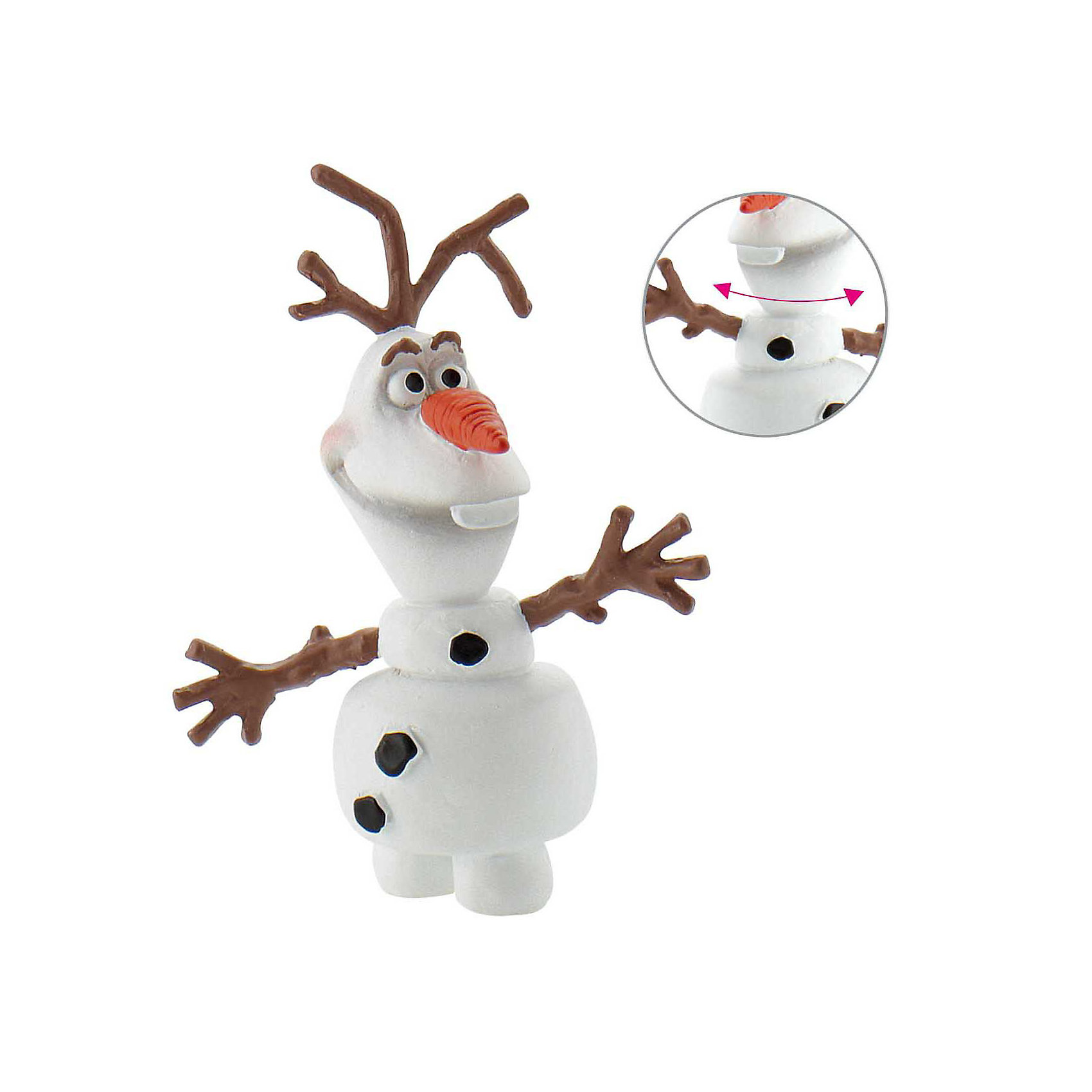 Фигурка Олаф,  DisneyФигурки из мультфильмов<br>Симпатичный снеговик Олаф – герой мультфильма «Холодное сердце». И мальчики, и девочки любят этого зимнего персонажа, который мечтает однажды встретить лето. <br>Забавная фигурка снеговика выглядит как на киноэкране. Голова героя поворачивается в разные стороны. Игрушка изготовлена из термопластичного каучука – безопасного материала нового поколения, который использует Bullyland (Германия) для своих игрушек. Фигурки Bullyland выпускаются более 40 лет и заслужили награду Spiel Gut, присуждаемую комитетом учителей и врачей.<br>Соберите всех персонажей Холодного сердца в своей личной коллекции фигурок! <br><br>Дополнительная информация:<br><br>Высота фигурки: 4,5 см.<br><br>Фигурку Олаф,  Disney можно купить в нашем магазине.<br><br>Ширина мм: 82<br>Глубина мм: 27<br>Высота мм: 22<br>Вес г: 1<br>Возраст от месяцев: 36<br>Возраст до месяцев: 96<br>Пол: Женский<br>Возраст: Детский<br>SKU: 3383419