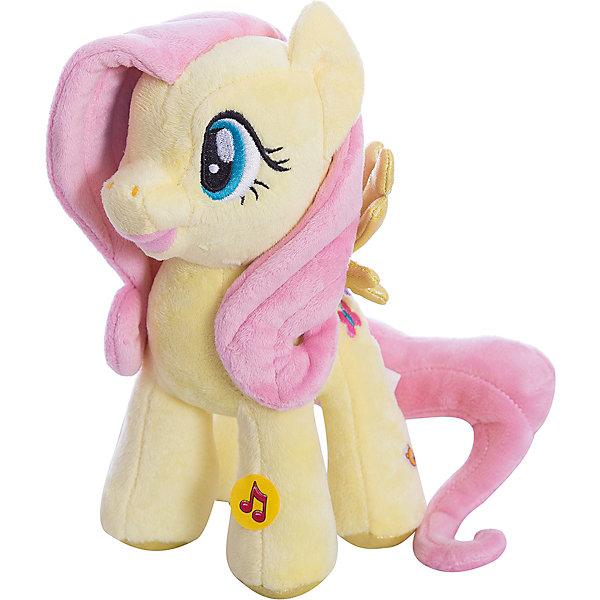 Мягкая игрушка  Пони Флаттершай, со светом и звуком, My little Pony, МУЛЬТИ-ПУЛЬТИМягкие игрушки из мультфильмов<br>Мягкая игрушка Мульти-Пульти пони из мультсериала My Little Pony станет замечательным подарком для Вашей девочки. Пони Флаттершай из волшебного королевства очень красива, у нее розовая грива и хвост, игрушка очень мягкая и приятная на ощупь. Если нажать ей на ножку, то она заговорит или будет петь песню из мультика, игрушка также обладает световым эффектом. <br><br>Дополнительная информация:<br><br>- Материал: текстиль, синтепон.<br>- Требуются батарейки: 3* LR44 (входят в комплект).<br>- Высота игрушки: 23 см.<br>- Размер упаковки: 23 x 17 x 8 см<br>- Вес: 0.23 кг.<br><br>Мягкую игрушку Пони Флаттершай My little Pony от Мульти-Пульти можно купить в нашем магазине.<br><br>Ширина мм: 130<br>Глубина мм: 230<br>Высота мм: 340<br>Вес г: 109<br>Возраст от месяцев: 24<br>Возраст до месяцев: 1188<br>Пол: Унисекс<br>Возраст: Детский<br>SKU: 3384136