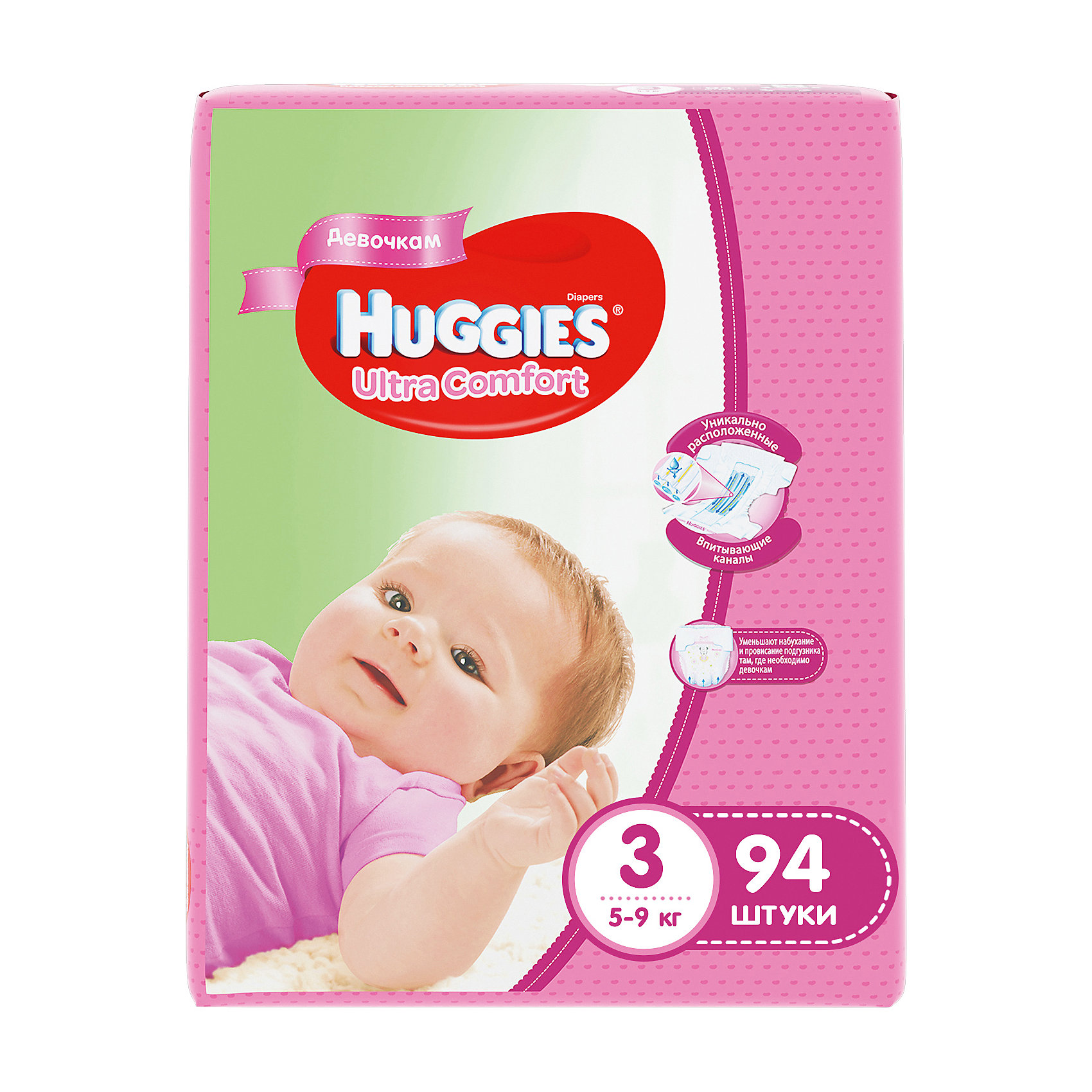 ���������� Huggies Ultra Comfort ��� ������� Giga Pack (3) 5-9 ��, 94 ��. (HUGGIES)