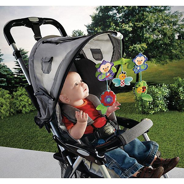 Крепление к коляске Обезьянки из тропического леса, Fisher-PriceИгрушки для новорожденных<br>Крепление к коляске Обезьянки из тропического леса Fisher-Price (Фишер-Прайс) с добрыми и красочными игрушками легко крепится к навесам большинства колясок. Ребенок будет с удовольствием разглядывать, тянуться и бить по игрушкам - насекомым и цветку, что разовьет мелкую моторику малыша и разнообразит прогулки. Потешьте слух малыша веселым звоном, а его зрение - игрой с двумя забавными обезьянками, которые качаются туда-сюда под действием движения коляски! Игрушка оснащена специальными зажимами, подходящими для большинства колясок.<br><br>Дополнительная информация:<br><br>- Игрушка завивает моторику, зрение, слух;<br>- Зверьки качаются по ходу движения коляски;<br>- Игрушка подходит к большинству колясок, благодаря удобному универсальному креплению;<br>- Яркий привлекательный дизайн;<br>- Размер: 5,5 х 28 х 20,5 см;<br>- Вес: 0,34 кг.<br><br>Крепление к коляске Обезьянки из тропического леса, Fisher-Price (Фишер-Прайс) можно купить в нашем интернет-магазине.<br>Ширина мм: 256; Глубина мм: 240; Высота мм: 53; Вес г: 189; Возраст от месяцев: 3; Возраст до месяцев: 12; Пол: Унисекс; Возраст: Детский; SKU: 3399165;
