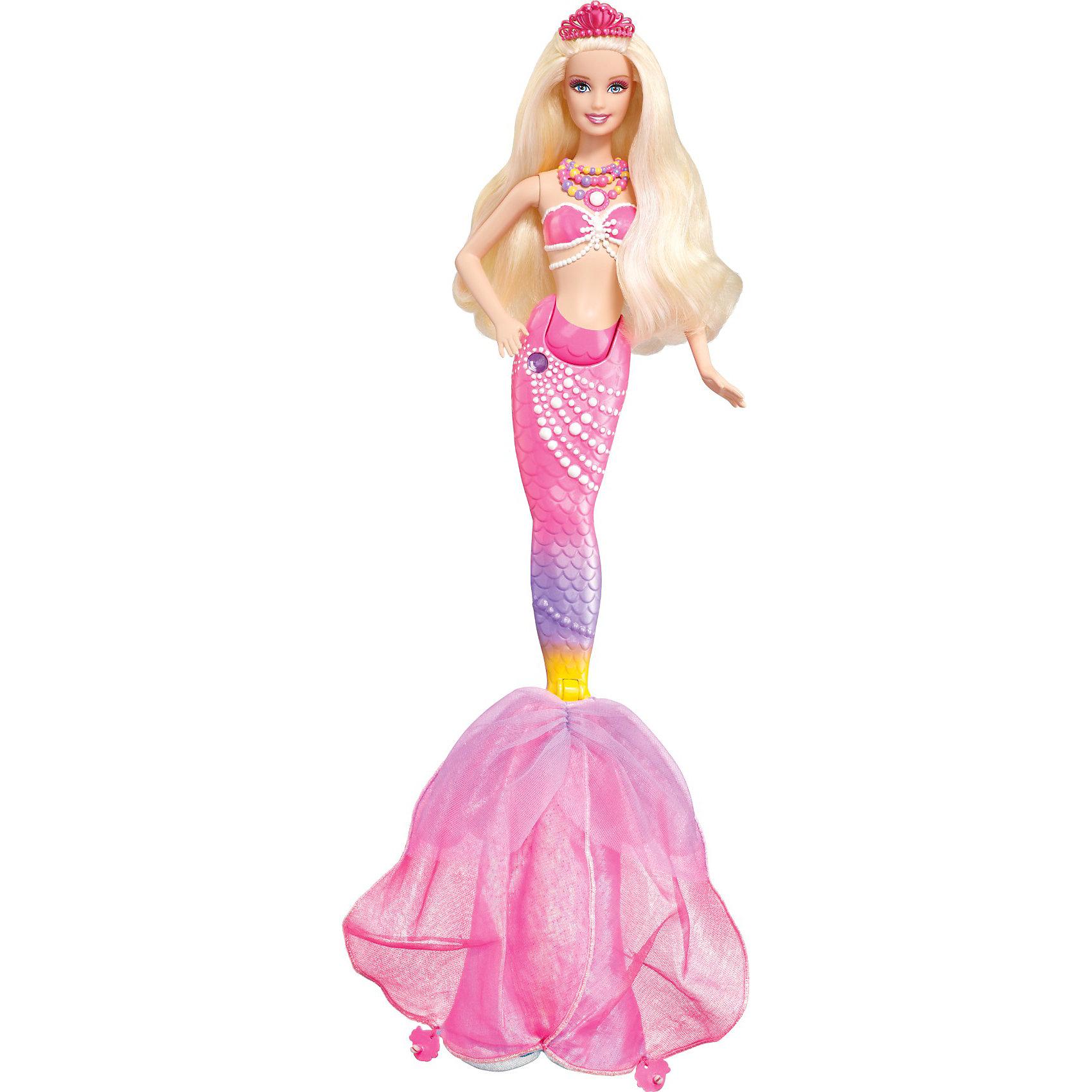 Кукла Русалка с волшебным хвостом и акссуарами из серии Жемчужная принцесса, Barbie
