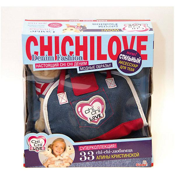 Чихуахуа Джинсовый стиль с сумкой, SimbaМягкие игрушки животные<br>Чихуахуа Джинсовый стиль с сумкой, Simba (Симба) - это одна из самых модных игрушек для девочек.<br>Маленькая собачка в стильном наряде – мечта многих юных модниц! С плюшевой чихуахуа от Simba (Симба) девочка почувствует себя настоящей светской львицей. У игрушки мягкая плюшевая шерстка. Лапки гнуться, что позволит придать собачке характерные позы - сидеть, дать лапу и т.д. Она одета в симпатичное платье с джинсовой пышной юбочкой и верхом в бело-розовую полоску. В комплекте с собачкой джинсовая сумочка-переноска в стиле casual, которая идеально подходит под платьице чихуахуа. Кроме того, в набор входит зеркальце-брелок, который вешается на сумочку. Сумку из набора можно использовать как самостоятельный аксессуар. Сумка выполнена из ткани, имеет короткие ручки и закрывается на липучку.<br><br>Дополнительная информация:<br><br>- В комплекте: собачка в платье, сумочка, зеркальце<br>- Материал: плюш, текстиль, наполнитель<br>- Высота собачки: 20 см.<br>- Размер упаковки: 30 x 18 x 30 см.<br>- Вес: 585 гр.<br><br>Игрушку Чихуахуа Джинсовый стиль с сумкой, Simba (Симба) можно купить в нашем интернет-магазине.<br><br>Ширина мм: 305<br>Глубина мм: 299<br>Высота мм: 175<br>Вес г: 562<br>Возраст от месяцев: 60<br>Возраст до месяцев: 96<br>Пол: Женский<br>Возраст: Детский<br>SKU: 3399825