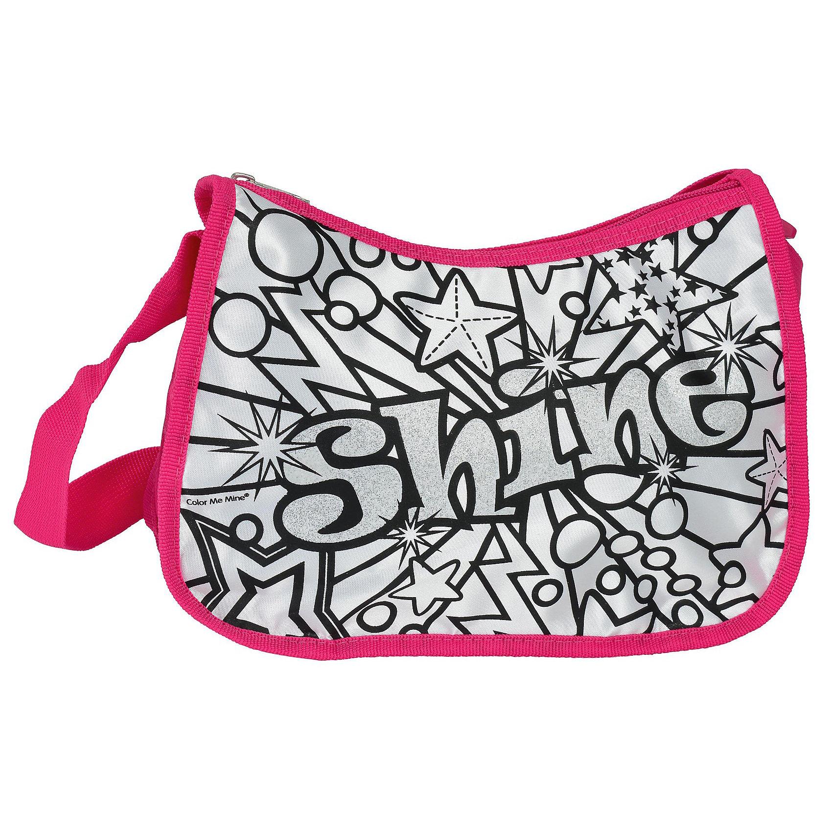 Сумка Лето с блестками, Color me mine, SimbaДорожные сумки и чемоданы<br>Сумка Лето с блестками - это набор для творчества и стильный аксессуар в одном наборе. На сумку нанесен черно-белый контур рисунка, который юная модница может закрасить на свой вкус при помощи входящих в комплект разноцветных водостойких перманентных маркеров.<br><br>Дополнительная информация:<br><br>- у сумки регулируемый ремешок и застежка в виде молнии <br>- размер сумки: 27 x 22 см<br>- в комплекте 5 перманентных цветных маркеров<br><br>Сумку Лето с блестками можно купить в нашем магазине.<br><br>Ширина мм: 269<br>Глубина мм: 325<br>Высота мм: 73<br>Вес г: 320<br>Возраст от месяцев: 72<br>Возраст до месяцев: 120<br>Пол: Женский<br>Возраст: Детский<br>SKU: 3399833