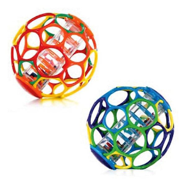 RU Мячик с погремушкой OballИгрушки для новорожденных<br>Этот яркий гибкий мяч издает забавные звуки, когда малыш его трясет!<br><br>Особенности<br>30 дырочек для детских пальчиков – удобно держать даже малышу<br>Мягкий гибкий пластик приятен на ощупь, не поранит ребенка<br>Палочка с бусинами издает забавные звуки, когда малыш трясет мячик<br>Развивает мелкую моторику, зрение и слух<br>Подходит для  детей всех возрастов<br><br><br>Дополнительные характеристики<br> В ассортименте 2 цвета<br> Не содержит вредных веществ<br> Можно мыть в посудомоечной машине<br>Диаметр мячика: 15 см<br><br>Ширина мм: 152<br>Глубина мм: 152<br>Высота мм: 152<br>Вес г: 405<br>Возраст от месяцев: 0<br>Возраст до месяцев: 24<br>Пол: Унисекс<br>Возраст: Детский<br>SKU: 3400195