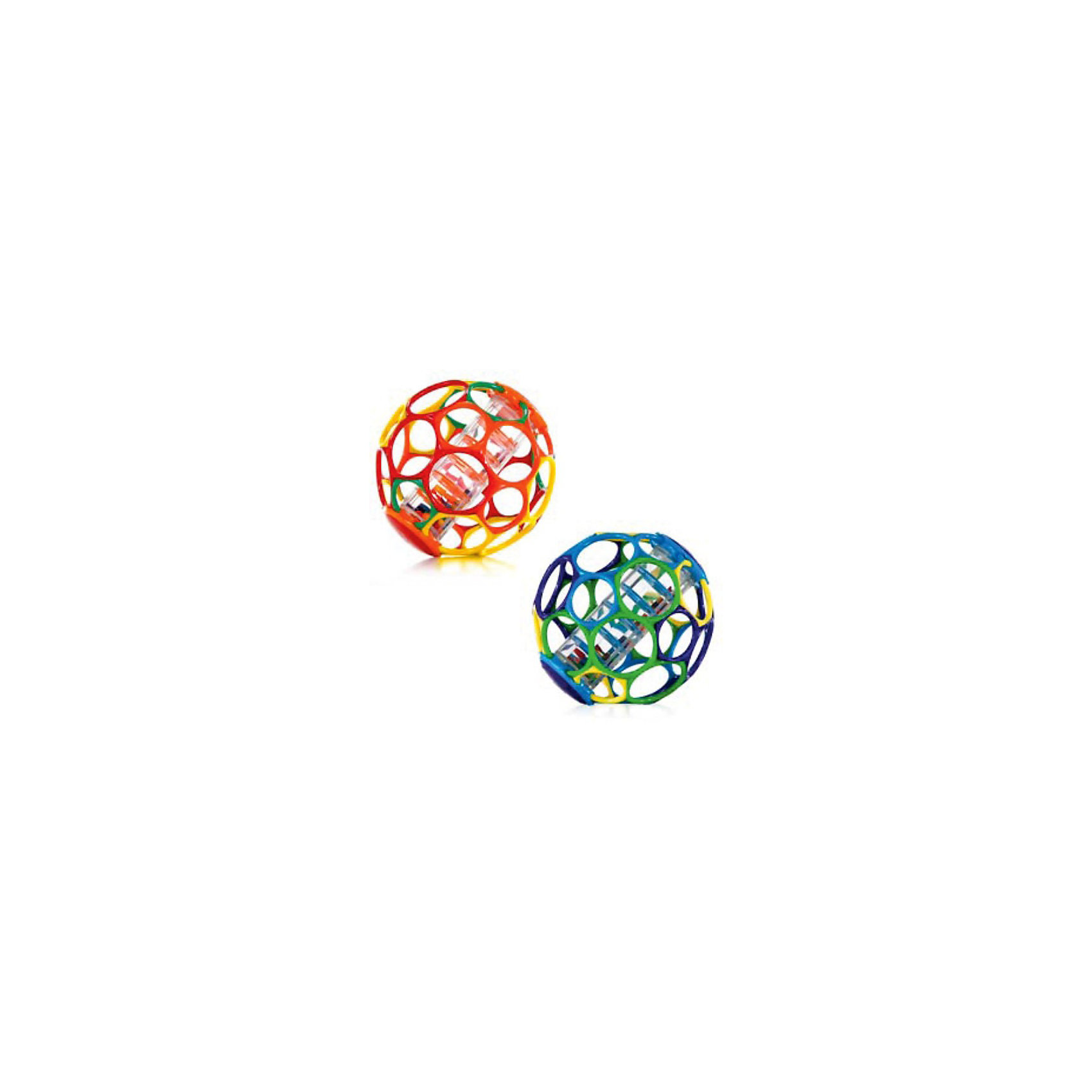 RU Мячик с погремушкой OballПогремушки<br>Этот яркий гибкий мяч издает забавные звуки, когда малыш его трясет!<br><br>Особенности<br>30 дырочек для детских пальчиков – удобно держать даже малышу<br>Мягкий гибкий пластик приятен на ощупь, не поранит ребенка<br>Палочка с бусинами издает забавные звуки, когда малыш трясет мячик<br>Развивает мелкую моторику, зрение и слух<br>Подходит для  детей всех возрастов<br><br><br>Дополнительные характеристики<br> В ассортименте 2 цвета<br> Не содержит вредных веществ<br> Можно мыть в посудомоечной машине<br>Диаметр мячика: 15 см<br><br>Ширина мм: 152<br>Глубина мм: 152<br>Высота мм: 152<br>Вес г: 405<br>Возраст от месяцев: 0<br>Возраст до месяцев: 24<br>Пол: Унисекс<br>Возраст: Детский<br>SKU: 3400195