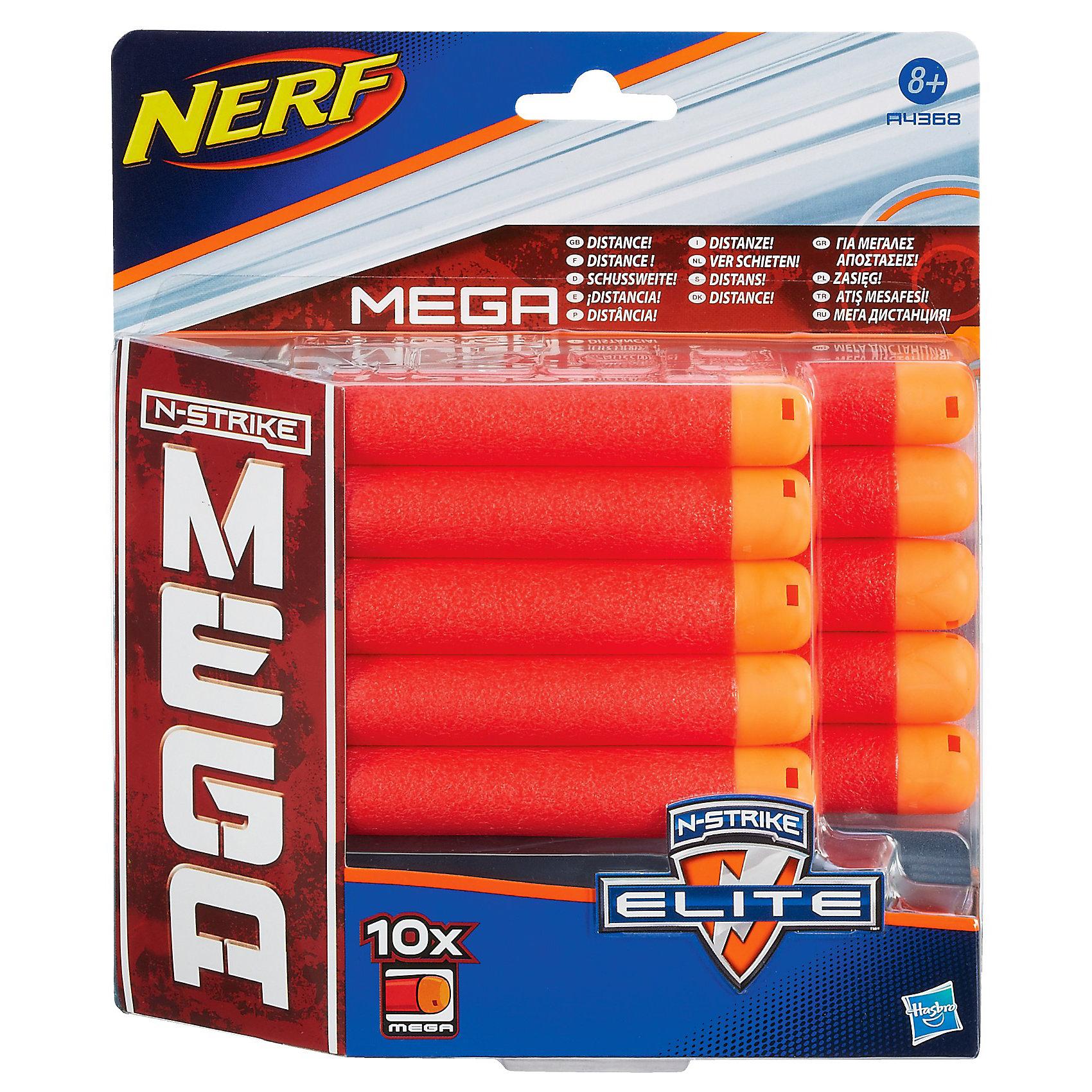 Комплект 10 стрел для бластеров МЕГА, NERFСюжетно-ролевые игры<br>Комплект 10 стрел для бластеров МЕГА, NERF подходит к любому бластеру серии МЕГА. Стрелы с мягким прорезиненным наконечником выполнены из высококачественного пластика. <br><br>Дополнительная информация:<br><br>- 10 стрел в комплекте<br>- Размер стрелы: 7.5 см<br>- Пластик, резина<br><br>Комплект 10 стрел для бластеров МЕГА, NERF (Нерф) можно купить в нашем магазине.<br><br>Ширина мм: 211<br>Глубина мм: 177<br>Высота мм: 45<br>Вес г: 84<br>Возраст от месяцев: 96<br>Возраст до месяцев: 144<br>Пол: Мужской<br>Возраст: Детский<br>SKU: 3405526