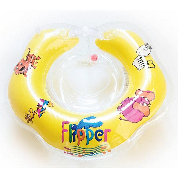 Надувной круг на шею Flipper FL001 для купания малышей, Roxy-KidsКруги и нарукавники<br>Надувной круг на шею Flipper для купания малышей, Roxy-Kids<br>Плавательный круг Flipper для купания младенцев предназначен для купания малышей с рождения до 2-х лет. <br>Не секрет, что плавание в ванне или в бассейне прекрасно развивает физическое и эмоциональное состояние малышей. Основное назначение кругов на шею Flipper – приучение ребенка к самостоятельному купанию с первых дней жизни. Круги для купания также помогут существенно облегчить родителям процесс купания новорожденных, поскольку им больше не придется постоянно держать малыша, согнув спину над ванной. Кроме того, плавание малышей в круге на шею Flipper положительно влияет на тонус мышц ребенка и способствует крепкому здоровому сну.<br>Безопасность использования круга увеличена за счет наличия второй камеры внутри наружной камеры, так называемой технологии круга в круге. Эта особенность отличает Flipper от аналогов. Все камеры имеют свой отдельный клапан для надувания.<br>Надувной круг на шею Flipper для купания малышей можно купить в нашем интернет-магазине.<br>ВНИМАНИЕ!!! Данный артикул имеется в наличии в разных цветовых исполнениях. К сожалению, заранее выбрать определенный цвет невозможно.<br>Ширина мм: 150; Глубина мм: 150; Высота мм: 50; Вес г: 200; Возраст от месяцев: 0; Возраст до месяцев: 24; Пол: Унисекс; Возраст: Детский; SKU: 3406180;