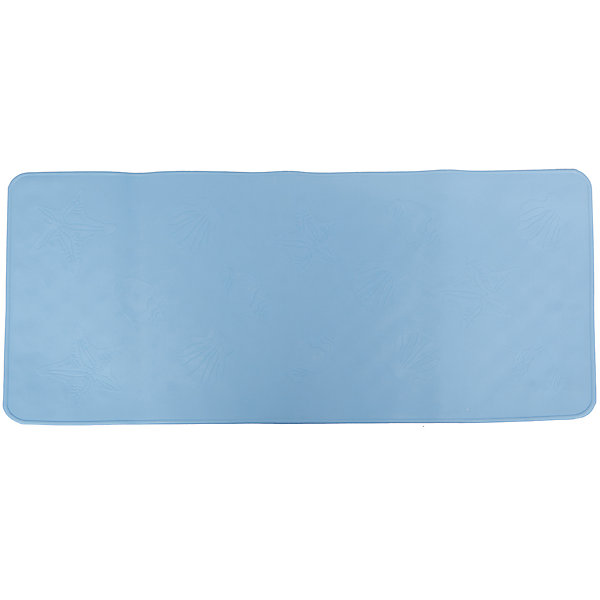 Антискользящий коврик для ванной, Roxy-Kids, голубойДетские коврики для ванны<br>Антискользящий коврик для ванны, Roxy-Kids<br>Противоскользящие коврики для ванны созданы специально для детей и призваны обеспечить комфортное и безопасное купание малышей в ванне. Они обладают целым рядом важных преимуществ:<br>- мягкие присоски надежно прикрепляют коврик ко дну ванны и не дают ему скользить по ванне, как бы активно ни двигался малыш; <br>- специальное покрытие препятствует скольжению ног или тела ребенка по коврику; <br>- поверхность коврика имеет рельефные элементы, обеспечивающие массажные функции, благодаря которым, купание малыша в ванне станет не только простым и безопасным, но еще и полезным.<br>Дополнительная информация:<br>- размеры 34х74 см.;<br>- сделаны из 100% натуральной резины без применения токсичного сырья.<br><br>Антискользящий  коврик для ванны можно купить в нашем интернет-магазине.<br><br>Ширина мм: 340<br>Глубина мм: 740<br>Высота мм: 10<br>Вес г: 300<br>Цвет: голубой<br>Возраст от месяцев: 6<br>Возраст до месяцев: 84<br>Пол: Унисекс<br>Возраст: Детский<br>SKU: 3406185