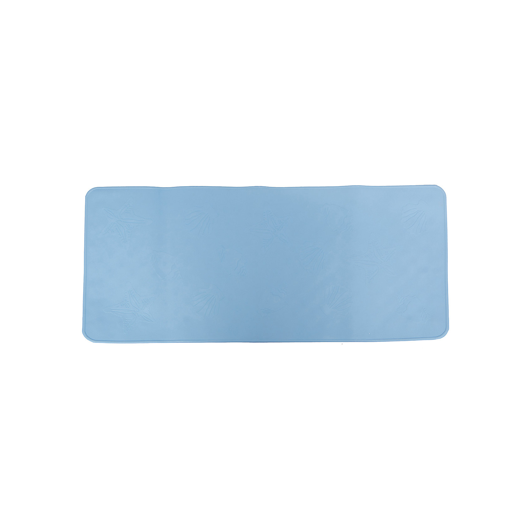 Антискользящий коврик для ванной, Roxy-Kids, голубойАнтискользящий коврик для ванны, Roxy-Kids<br>Противоскользящие коврики для ванны созданы специально для детей и призваны обеспечить комфортное и безопасное купание малышей в ванне. Они обладают целым рядом важных преимуществ:<br>- мягкие присоски надежно прикрепляют коврик ко дну ванны и не дают ему скользить по ванне, как бы активно ни двигался малыш; <br>- специальное покрытие препятствует скольжению ног или тела ребенка по коврику; <br>- поверхность коврика имеет рельефные элементы, обеспечивающие массажные функции, благодаря которым, купание малыша в ванне станет не только простым и безопасным, но еще и полезным.<br>Дополнительная информация:<br>- размеры 34х74 см.;<br>- сделаны из 100% натуральной резины без применения токсичного сырья.<br><br>Антискользящий  коврик для ванны можно купить в нашем интернет-магазине.<br><br>Ширина мм: 340<br>Глубина мм: 740<br>Высота мм: 10<br>Вес г: 300<br>Цвет: голубой<br>Возраст от месяцев: 6<br>Возраст до месяцев: 84<br>Пол: Унисекс<br>Возраст: Детский<br>SKU: 3406185