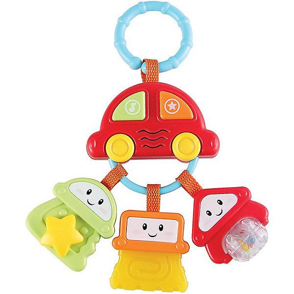 Подвеска Брелок с ключами SUNDY Happy BabyПодвески<br>Брелок с ключами SUNDY<br><br>Развивает: слуховое и зрительное восприятие; мелкую моторику и тактильные ощущения; пространственное восприятие; познавательный интерес.<br><br>Характеристики: встроенный звуковой эффект; разъемное кольцо для удобного крепления к различным предметам; веселые персонажи на кнопках; подвеска в виде автомобиля.<br><br>Дополнительная информация:<br><br>Материал: АБС-пластик.<br>Батарейки в комплекте.<br><br>Брелок с ключами SUNDY Happy Baby можно купить в нашем интернет-магазине.<br><br>Ширина мм: 255<br>Глубина мм: 140<br>Высота мм: 60<br>Вес г: 213<br>Возраст от месяцев: 0<br>Возраст до месяцев: 24<br>Пол: Унисекс<br>Возраст: Детский<br>SKU: 3408933