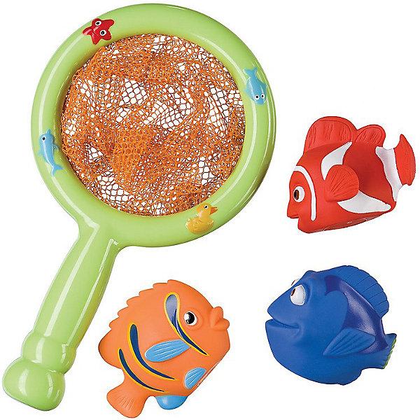 Набор ПВХ-игрушек для ванной Веселая рыбалка LITTLE FISHER Happy BabyИгрушки для ванной<br>Набор ПВХ-игрушек для ванной LITTLE FISHER станет отличным подарком для начинающего рыбака. При помощи сачка нужно выловить из воды маленьких нетонущих рыбок. Игрушка развивает мелкую моторику; творческое мышление; познавательный интерес.<br><br>Дополнительная информация:<br><br>- В комплекте: рыболовный сачок и яркие 3 рыбки<br>- Материал: ПВХ<br>- Размеры упаковки: 20 х 32 х 8 см<br><br>Набор ПВХ-игрушек для ванной Веселая рыбалка LITTLE FISHER Happy Baby можно купить в нашем интернет-магазине.<br>Ширина мм: 200; Глубина мм: 320; Высота мм: 80; Вес г: 220; Возраст от месяцев: 6; Возраст до месяцев: 36; Пол: Унисекс; Возраст: Детский; SKU: 3408953;