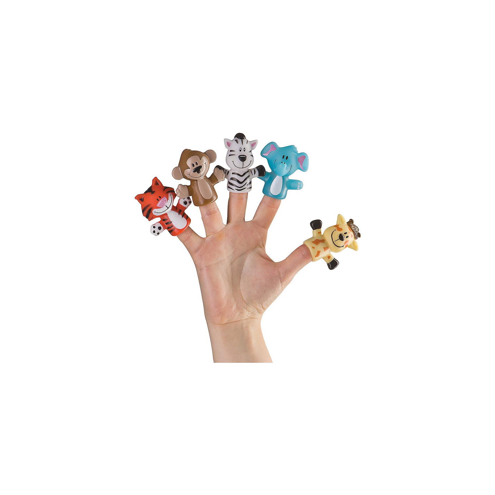 "Набор игрушек на пальцы ""Джунгли/сафари"" FUN AMIGOS Happy Baby от myToys"