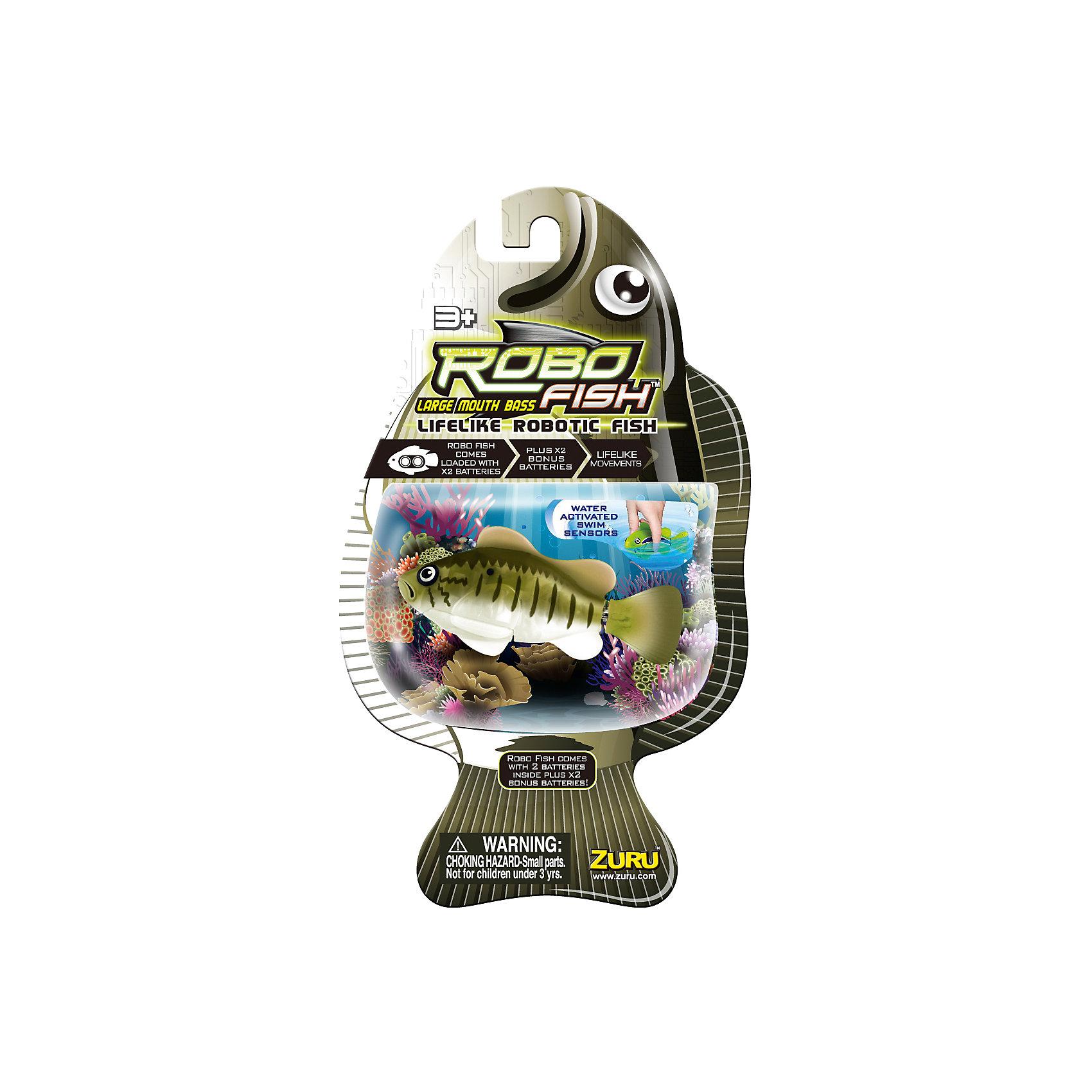 Роборыбка Большеротый окунь, RoboFishРоборыбки и русалки<br>Робо-рыбка (Robofish) Большеротый окунь совсем как живая!<br><br>В воде игрушка имитирует движения и повадки настоящей рыбы и может двигаться в 5 направлениях. При движении роборыбка может опускаться ко дну и подниматься к поверхности воды.<br><br>Механизм движения рыбки активируется только в воде.<br> <br>Робо-рыбка понравится как детям так и взрослым. <br><br>Дополнительная информация:<br><br>- Материал: высококачественная пластмасса<br>- Батарейки:2 батарейки LR44, входят в комплект<br>- Длина рыбки: около 8 см<br><br>Игрушку Робо-рыбка (Робофиш) Большеротый окунь можно купить в нашем интернет-магазине.<br><br>Ширина мм: 410<br>Глубина мм: 260<br>Высота мм: 230<br>Вес г: 400<br>Возраст от месяцев: 60<br>Возраст до месяцев: 144<br>Пол: Унисекс<br>Возраст: Детский<br>SKU: 3410009