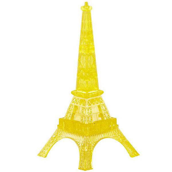 Кристаллический пазл 3D Эйфелева Башня, CreativeStudio3D пазлы<br>Кристаллический пазл 3D  Эйфелева Башня L, Creative Studio (Креатив Студио)- это головоломка  одна из самых сложных в серии Кристальные объемные пазлы, но и самая эффектная в собранном виде. Яркая светящаяся Эйфелева Башня станет оригинальным украшением интерьера. Детали пазла выполнены из полупрозрачного пластика высокого качества. Они соединяются между собой без клея и образуют объемную фигуру, которую в дальнейшем можно использовать как украшение интерьера или в качестве сувенира. Для сборки модели надо разместить детали пазла в правильной последовательности. Когда фигура собрана, в нее нужно вставить фиксирующий элемент, который придаст ей прочности.<br>Процедура сборки может быть растянута от нескольких часов до нескольких дней, если не смотреть в инструкцию-подсказку (прилагается в наборе) и не обращать внимания на цифры с обратной стороны кусочков мозаики - это порядок сборки. Игра рассчитана на абсолютно разную возрастную аудиторию, поскольку требует усидчивости и терпения при подгонке деталей, плоских и сужающихся в местах стыковок. Все детали хорошо отполированы, блестят, без острых краев и трещин. Собранная своими руками игрушка будет для ребенка гораздо дороже, чем готовая ведь он вложил в нее свой драгоценный труд. Сборные модели и игрушки уникальны и отвечают потребностям самых разных возрастных групп, дарят людям радость творчества.<br><br>Дополнительная информация:<br><br>- Набор состоит из 24 деталей и инструкции;<br>- Детали крепятся друг к другу без клея;<br>- Уровень сложности: высокий;<br>- Обучающая, яркая и реалистичная модель;<br>- Идеально и легко собирается без инструментов;<br>- Увлекательный игровой процесс;<br>- Собранный 3D пазл можно использовать как обычную игрушку, как украшение комнаты или рабочего места;<br>- Материал: пластик;<br>- С подсветкой;<br>- Работает от двух дисковых батареек: в комплект не входят;<br>- Размер упаковки: 4 х 14 х 9 см;<br>- Вес : 300 г  <br>