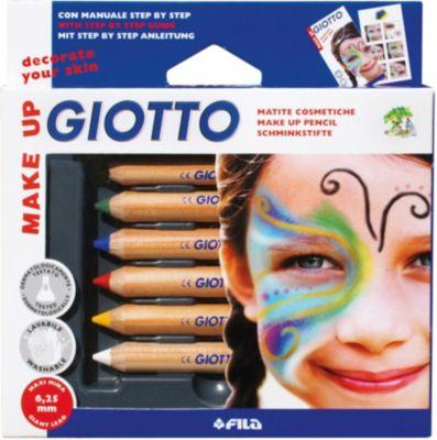 GIOTTO Набор карандашей для грима на восковой основе, 6 шт.