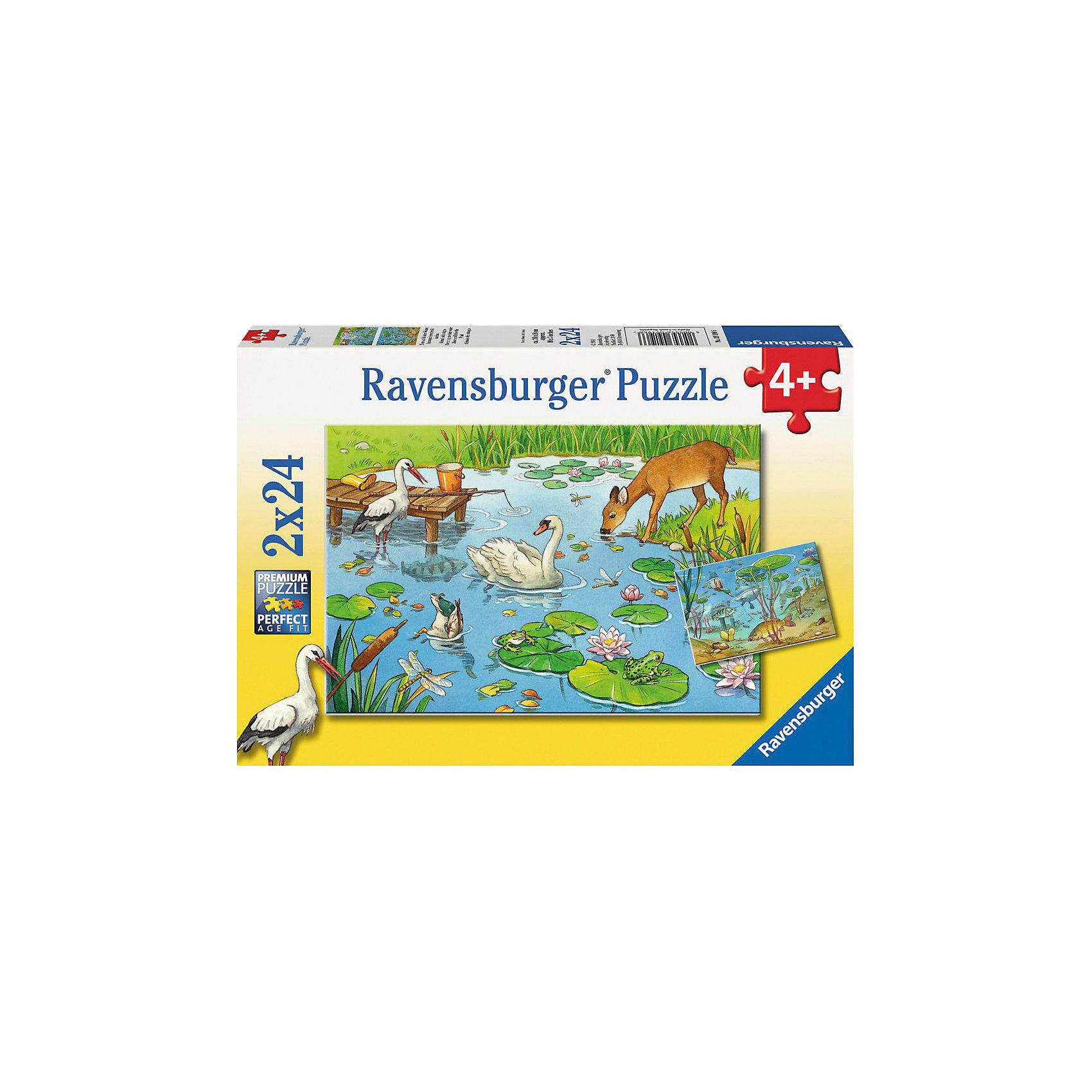 Ravensburger Набор пазлов «На пруду» 2х24 деталей, Ravensburger ravensburger ravensburger набор для творчества mandala designer балерины