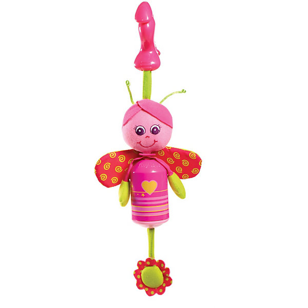 Подвес-колокольчик Бабочка Софи , Tiny LoveИгрушки для новорожденных<br>Подвес-колокольчик Бабочка Софи  от Tiny Love (Тини Лав) непременно порадует малыша!<br><br>Игрушка выполнена в ярких тонах и является стилизованным ветряным колокольчиком; мордочка  ручки и ножки игрушки выполнены из приятных текстильных материалов различной фактуры, кроме того  в игрушке  спрятаны «хрустелки» столь любимые малышами. При малейшем колебании колокольчик издает не громкий мелодичный звук (сродни традиционной музыке ветра).<br><br>С милой Бабочкой можно весело играть дома, а ещё эту яркую мягкую игрушку можно взять с собой на прогулку - теперь крохе не скучна ни какая дорога. Игрушка с помощью пластикового крабика-клипсы легко и быстро закрепляется на прогулочной коляске или кресле малыша. Игрушку также можно прикрепить к кроватке малыша или дугам развивающего центра, использовать для независимой игры. <br><br>Дополнительно:<br>- Размер игрушки: 27х10х7 см. <br>- Материал:  фарфоровый пластик<br><br>Подвес-колокольчик Бабочка Софи  от Tiny Love (Тини Лав) можно купить в нашем интернет – магазине.<br>Ширина мм: 70; Глубина мм: 340; Высота мм: 130; Вес г: 128; Возраст от месяцев: 0; Возраст до месяцев: 24; Пол: Унисекс; Возраст: Детский; SKU: 3421194;