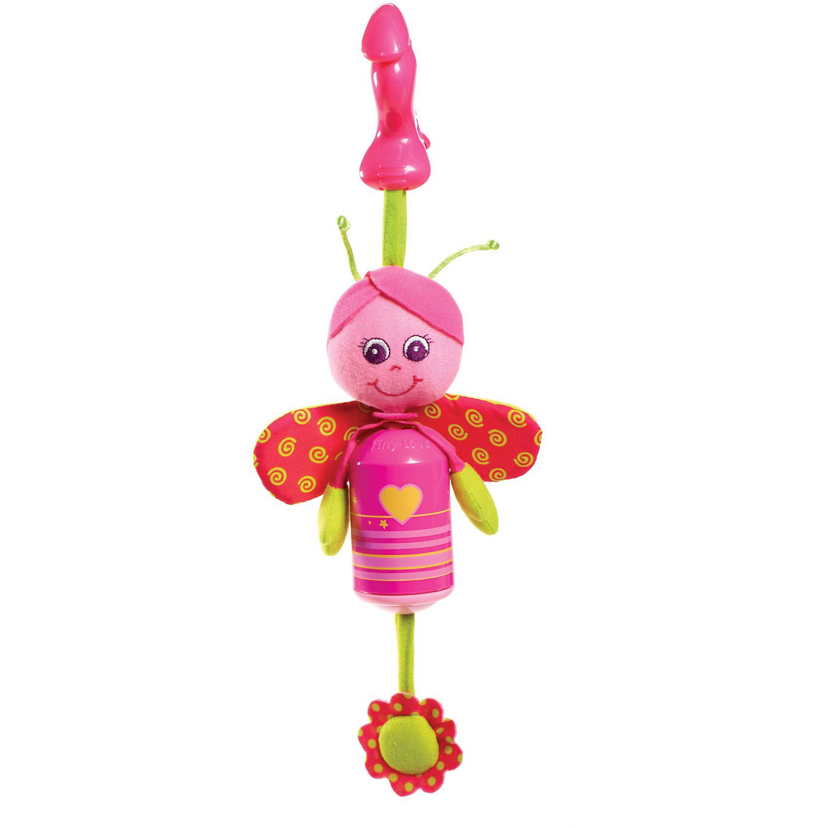Подвес-колокольчик Бабочка Софи , Tiny LoveИгрушки для малышей<br>Подвес-колокольчик Бабочка Софи  от Tiny Love (Тини Лав) непременно порадует малыша!<br><br>Игрушка выполнена в ярких тонах и является стилизованным ветряным колокольчиком; мордочка  ручки и ножки игрушки выполнены из приятных текстильных материалов различной фактуры, кроме того  в игрушке  спрятаны «хрустелки» столь любимые малышами. При малейшем колебании колокольчик издает не громкий мелодичный звук (сродни традиционной музыке ветра).<br><br>С милой Бабочкой можно весело играть дома, а ещё эту яркую мягкую игрушку можно взять с собой на прогулку - теперь крохе не скучна ни какая дорога. Игрушка с помощью пластикового крабика-клипсы легко и быстро закрепляется на прогулочной коляске или кресле малыша. Игрушку также можно прикрепить к кроватке малыша или дугам развивающего центра, использовать для независимой игры. <br><br>Дополнительно:<br>- Размер игрушки: 27х10х7 см. <br>- Материал:  фарфоровый пластик<br><br>Подвес-колокольчик Бабочка Софи  от Tiny Love (Тини Лав) можно купить в нашем интернет – магазине.<br><br>Ширина мм: 70<br>Глубина мм: 340<br>Высота мм: 130<br>Вес г: 128<br>Возраст от месяцев: 0<br>Возраст до месяцев: 24<br>Пол: Унисекс<br>Возраст: Детский<br>SKU: 3421194