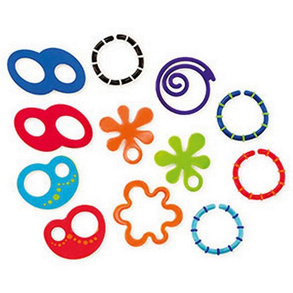 Набор прорезывателей Забавные колечки, 12 шт, OballПустышки<br>Набор прорезывателей Забавные колечки, 12 шт, Oball<br><br>Характеристики:<br><br>- Материал: пластик;<br>- Цвет: разноцветный.<br><br>У вашего малыша режутся зубки? Тогда этот набор для вас! 12 забавных колечек разного цвета и формы, которые можно соединять между собой, крепить на них другие игрушки. Колечки легко крепятся к переноске, коляске и т.д. Рельефные поверхности для кусания успокаивают нежные десны малыша, а также развивают тактильное восприятие. Яркие цвета развивают зрение и цветовосприятие. <br><br>Набор прорезывателей Забавные колечки, 12 шт, Oball, можно купить в нашем интернет – магазине.<br><br>Ширина мм: 177<br>Глубина мм: 119<br>Высота мм: 71<br>Вес г: 212<br>Возраст от месяцев: 0<br>Возраст до месяцев: 18<br>Пол: Унисекс<br>Возраст: Детский<br>SKU: 3421676