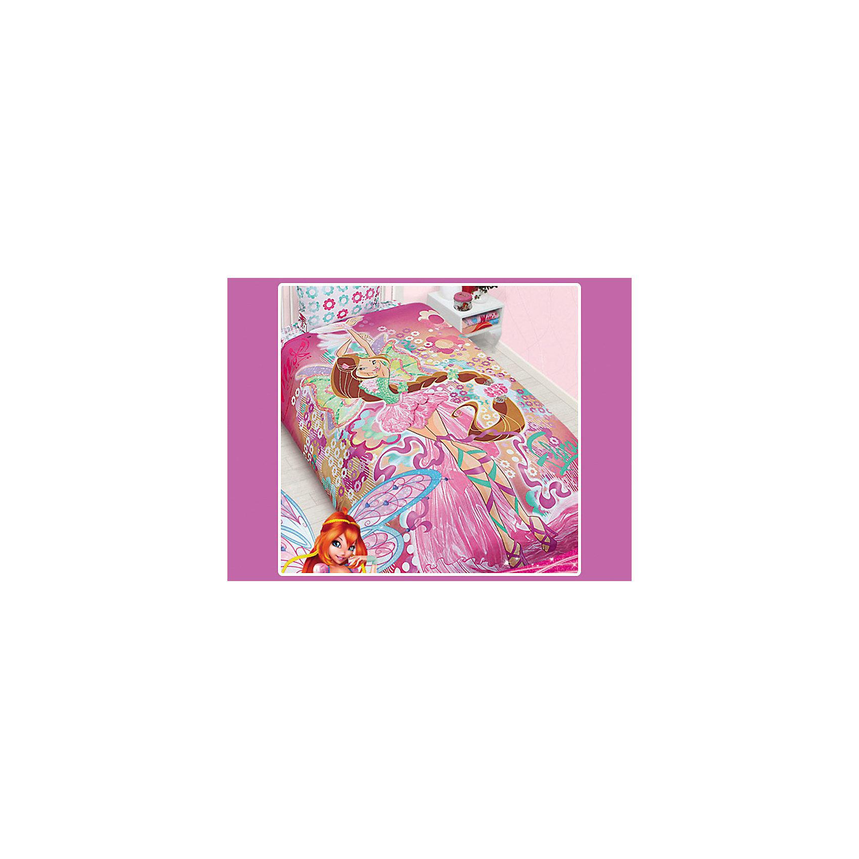 Комплект Флора 1,5-спальный, Winx ClubДетское постельное белье под брендом Winx club от Mona-Liza станет приятным сюрпризом для девочки и замечательным украшением ее спальни. Комплект полутораспального белья оформлен по мотивам известного итальянского мультсериала Winx club о приключениях команды девушек-фей, борющихся со злом. Белье украшено изображением одной из героинь Winx club феи Флоры - любительницы растений и природы, в окружении цветов.<br><br>Дополнительная информация:<br><br>-Размер комплекта: 1,5-спальный<br>-Тип ткани: Бязь (100% хлопок).<br>-В комплекте: 1 наволочка, 1 пододеяльник и 1 простыня.<br>-Размер пододеяльника: 145*210 см.<br>-Размер наволочки: 50*70 см.<br>-Размер простыни: 150*215 см.<br>-Основной цвет: розовый.<br>-Серия: Winx (Винкс) - Школа Волшебниц<br><br>Комплект постельного белья Winx Club (Flora 2013) марки Мона-Лиза можно приобрести в нашем интернет-магазине.<br><br>Ширина мм: 310<br>Глубина мм: 250<br>Высота мм: 70<br>Вес г: 1000<br>Возраст от месяцев: 0<br>Возраст до месяцев: 180<br>Пол: Женский<br>Возраст: Детский<br>SKU: 3432695