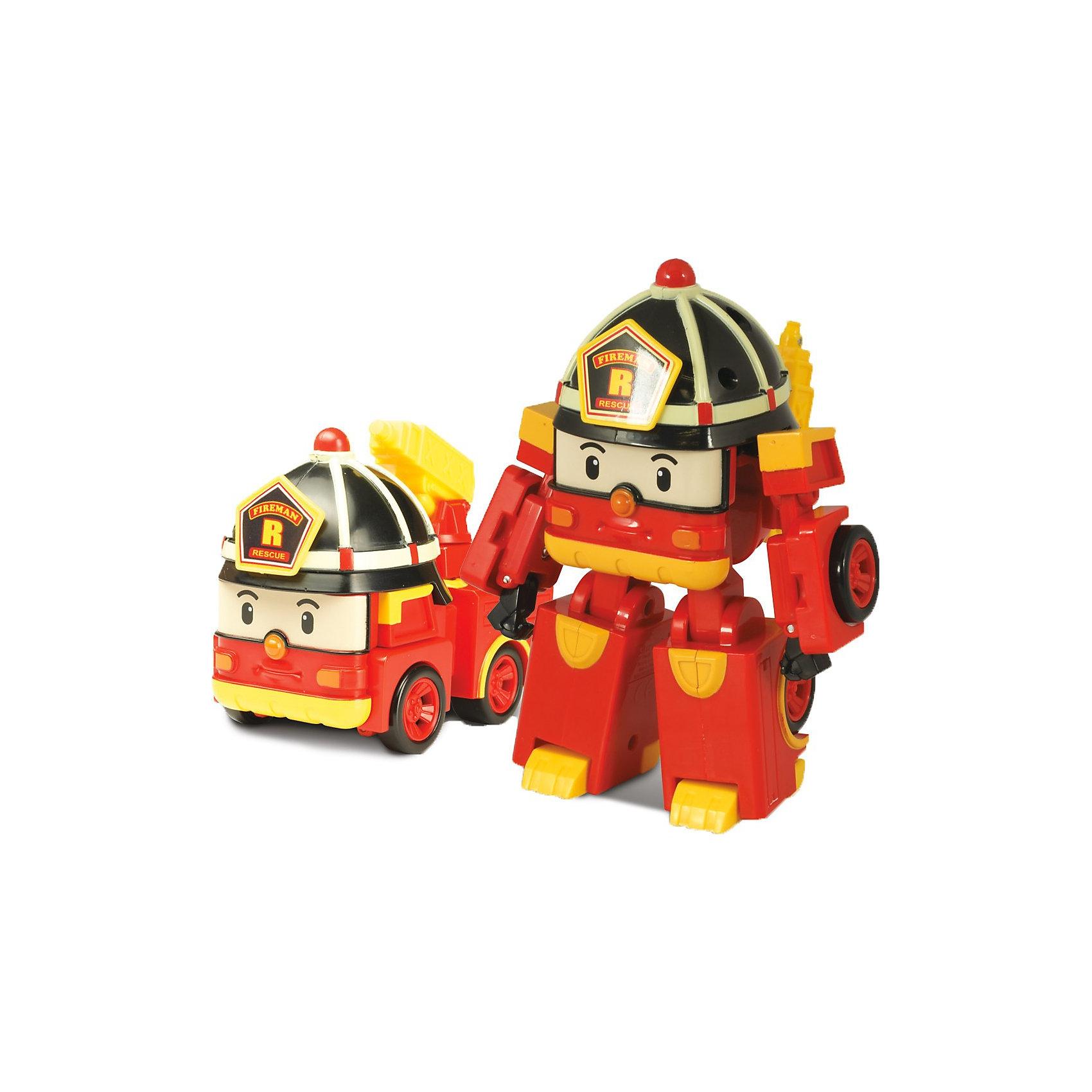 Игрушка Рой трансформер, Робокар ПолиИгрушки<br>Рой трансформер, Робокар Поли - машинка-трансформер, пожарная машина-робот Рой из полюбившегося мультсериала «Robocar Poli».<br>Он живет в удивительном городке Брумстаун, где все машинки умеют говорить! <br>Рой необыкновенно добрый малый  и как только слышит сигнал о пожаре, готов в любую минуту броситься на помощь попавшему в беду жителю города!<br>Сюжетно-ролевые игры с использованием машинок-трансформеров от компании Silverlit способствуют развитию воображения и пространственного мышления, мелкой моторики рук вашего ребенка, формируют грамотную речь.<br><br>Дополнительная информация:<br><br>- Пожарная машина путем ручного трансформирования легко превращается в человечка.<br>- Материал: пластик.<br>- Размер коробки (длн-шрн-вст): 13 х 13 х 17.1 см.<br>- Размер игрушки: 10 см.<br>- пожарный кран у машины подвижный.<br>- Игрушка выполнена из высококачественного пластика.<br>- Вес: 0.275 кг<br><br>Игрушку  Рой трансформер, Робокар Поли (Robocar Poli) можно купить в нашем магазине.<br><br>Ширина мм: 173<br>Глубина мм: 131<br>Высота мм: 132<br>Вес г: 233<br>Возраст от месяцев: 36<br>Возраст до месяцев: 66<br>Пол: Мужской<br>Возраст: Детский<br>SKU: 3439333