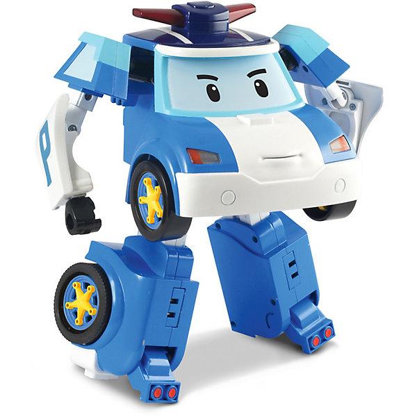 Игрушка Робот трансформер Поли, р/у, 31 см, Робокар ПолиРоботы-игрушки<br>Робот – трансформер Поли на радиоуправлении - добрый и смелый полицейский Поли из полюбившегося мультфильмаРобокар Поли и его друзья готов всегда прийти на помощь. Управлять им очень легко: кнопки большого размера необыкновенно удобны для ребенка от 3 лет.<br>Игрушка прекрасно развивает логику и реакцию, воображение, умение рассчитывать свои действия и получать результат, анализировать причины неудач, а также обучает навыкам обращения с предметами в движении.<br>Если ребенок играет с другом, игрушка будет способствовать развитию речи, умению активно общаться.<br><br>Дополнительная информация:<br><br>- размер коробки (длн-шрн-вст): 33 х 18 х 35.5 см. <br>- высота игрушки: 31 см.<br>- управляется при  помощи пульта дистанционного управления.<br>- управляется дистанционно в форме машины<br>- полицейская машина легко трансформируется в робота.<br>- движения машины разнообразны: вперед, назад, вправо, влево.<br>- при трансформации в робота издает звуки сирены и 3 мелодии.<br>- звуковые эффекты сопровождаются мигалкой и подсветкой фар.<br><br> В игровой набор входят: <br>- робот-трансформер Поли<br>- пульт дистанционного управления<br>- аксессуары для робота: фонарик, дрель, пила, световой жезл.<br>- Элементы питания: 4 батарейки типа AAA и 1 батарейка 6LR61-9V (приобретаются отдельно).<br>- Игрушка выполнена из высококачественного пластика.<br><br>Игрушку Робот трансформер Поли, на радиоуправлении, 31 см, Robocar Poli можно купить в нашем магазине.<br>Ширина мм: 366; Глубина мм: 337; Высота мм: 182; Вес г: 1413; Возраст от месяцев: 36; Возраст до месяцев: 60; Пол: Мужской; Возраст: Детский; SKU: 3439336;