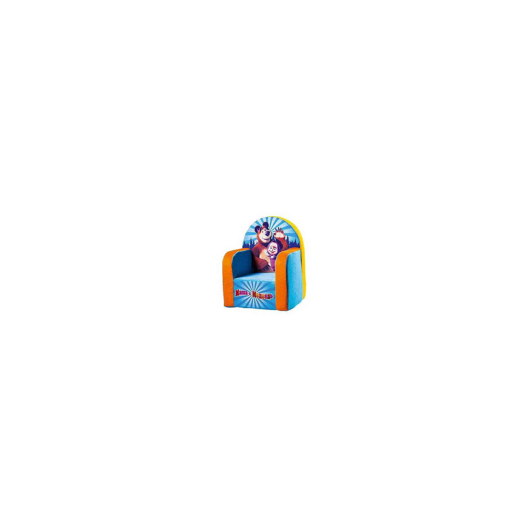 Мягкое кресло Маша и Медведь, СмолТойс, голубойДетям очень важно иметь свои вещи, это касается не только посуды и игрушек, но и мебели. Именно поэтому такое кресло станет действительно желанным подарком для малыша. Тем более, что на нем есть изображение любимых мультяшных герои современных детей - Маши и Медведя.<br>Обивка кресла - мягкая и приятная на ощупь. Внутри предмет заполнен мягким пенополиуретаном, в нем нет жестких элементов, опасных для малыша. Кресло легкое, но устойчивое. Детям будет интересно и удобно в нем сидеть или играть. Такое яркое и симпатичное кресло оживит и украсит комнату ребенка!<br><br>Дополнительная информация:<br><br>цвет: разноцветный;<br>материал: трикотаж, пенополиуретан;<br>декорировано изображением Маши и Медведя;<br>размер: 530 х 320 х 410 мм.<br><br>Мягкое кресло Маша и Медведь можно купить в нашем магазине.<br><br>Ширина мм: 32<br>Глубина мм: 41<br>Высота мм: 53<br>Вес г: 1075<br>Возраст от месяцев: 36<br>Возраст до месяцев: 1188<br>Пол: Унисекс<br>Возраст: Детский<br>SKU: 3440339