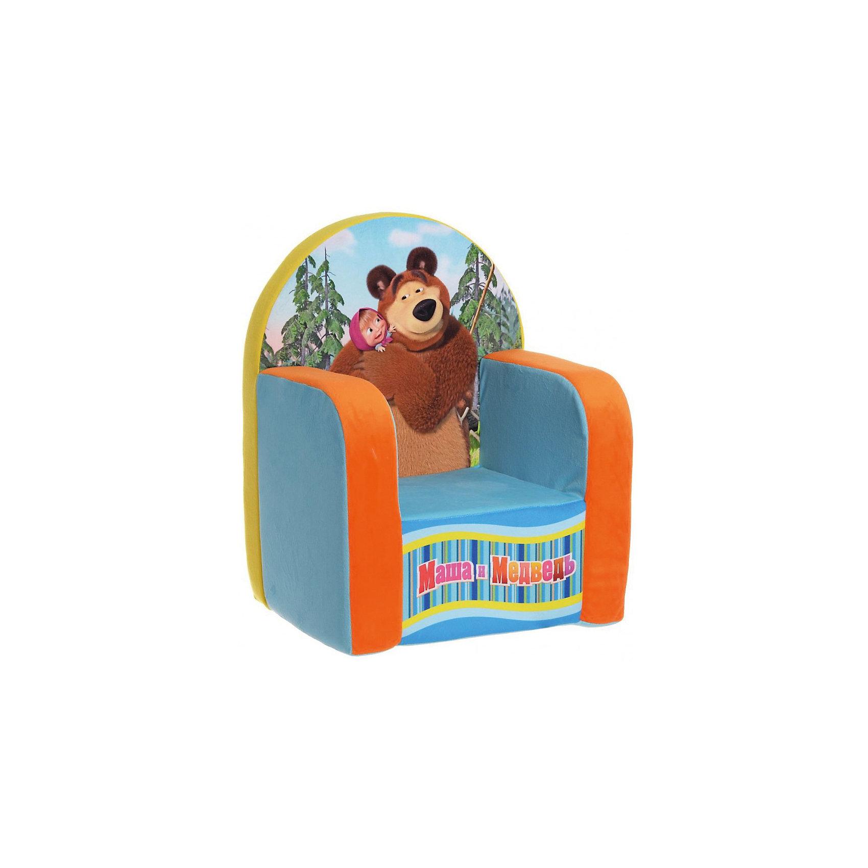 Мягкое кресло Маша и Медведь, СмолТойс, голубойДумаете, чем порадовать ребенка? Подарите это кресло! Детям очень важно иметь свои вещи, это касается не только посуды и игрушек, но и мебели. Именно поэтому такое кресло станет действительно желанным подарком для малыша. Тем более, что на нем есть изображение любимых мультяшных герои современных детей - Маши и Медведя.<br>Обивка кресла - мягкая и приятная на ощупь. Внутри предмет заполнен мягким пенополиуретаном, в нем нет жестких элементов, опасных для малыша. Кресло легкое, но устойчивое. Детям будет интересно и удобно в нем сидеть или играть. Такое яркое и симпатичное кресло оживит и украсит комнату ребенка!<br><br>Дополнительная информация:<br><br>цвет: разноцветный;<br>материал: трикотаж, пенополиуретан;<br>декорировано изображением Маши и Медведя;<br>размер: 530 х 320 х 410 мм.<br><br>Мягкое кресло Маша и Медведь можно купить в нашем магазине.<br><br>Ширина мм: 32<br>Глубина мм: 41<br>Высота мм: 53<br>Вес г: 1075<br>Возраст от месяцев: 36<br>Возраст до месяцев: 1188<br>Пол: Унисекс<br>Возраст: Детский<br>SKU: 3440340