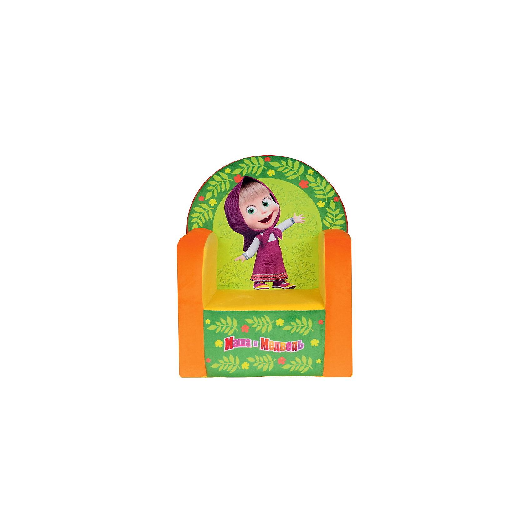 Игрушка-кресло Маша и медведьДетское кресло с изображением  главной героини мультфильма Маша и Медведь Маши. На этом замечательном кресле можно играть и смотреть мультфильмы. Дизайн данной модели впишется в любой интерьер детской комнаты. А за счёт компактных размеров - разместить её можно даже в небольшой комнатке. <br>Кресло не раскладывается.<br><br>Дополнительная информация:<br><br>- материал:  обивка - искусственный мех, наполнитель - поролон.<br>- размеры коробки (длн-шрн-вст): 41 х 53 х 34 см. <br>- вес - 1кг 100 гр.<br><br>Кресло Маша и медведь можно купить в нашем интернет-магазине<br><br>Ширина мм: 530<br>Глубина мм: 320<br>Высота мм: 410<br>Вес г: 1075<br>Возраст от месяцев: 24<br>Возраст до месяцев: 60<br>Пол: Унисекс<br>Возраст: Детский<br>SKU: 3440342