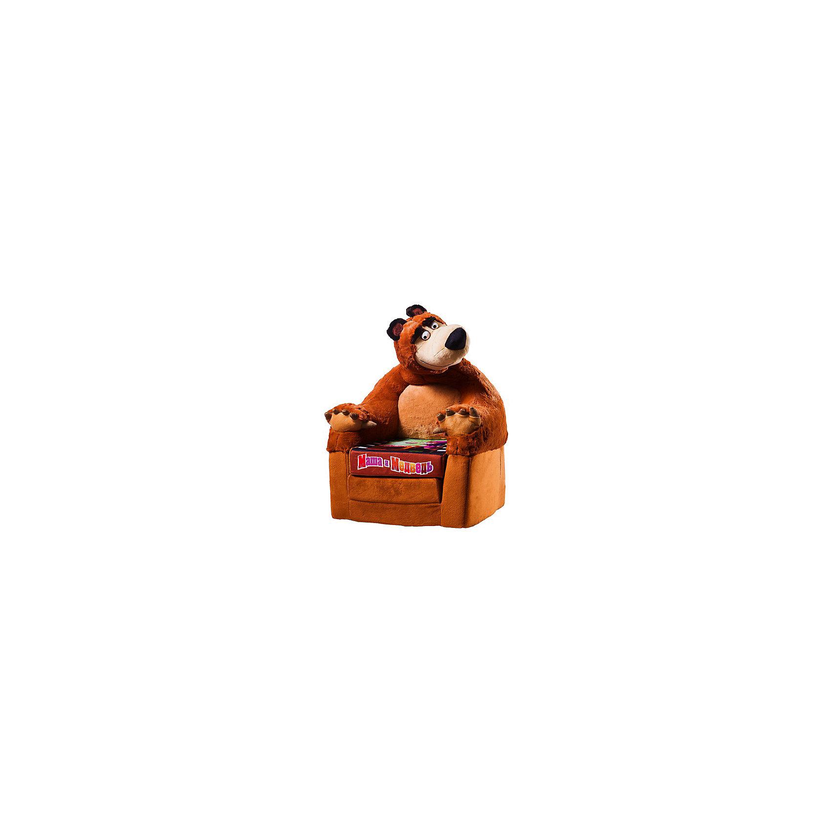 Кресло-игрушка Миша (раскладывающееся), Маша и медведьМаша и Медведь<br>Кресло раскладывающееся Маша и медведь в виде главного героя мультика про Машу и Медведя абсолютно безопасна для вашего малыша. С этим креслом они смогут проявить максимум своих творческих и двигательных способностей - ведь по нему можно лазать, прыгать и кувыркаться. <br><br>Дополнительная информация:<br> <br>- материал:  обивка - искусственный мех, наполнитель - поролон.<br>- размер (г ? ш ? в): 65/44/36 см.<br><br>Игрушку-кресло Маша и медведь можно купить в нашем интернет-магазине<br><br>Ширина мм: 630<br>Глубина мм: 360<br>Высота мм: 440<br>Вес г: 2160<br>Возраст от месяцев: 24<br>Возраст до месяцев: 60<br>Пол: Унисекс<br>Возраст: Детский<br>SKU: 3440344