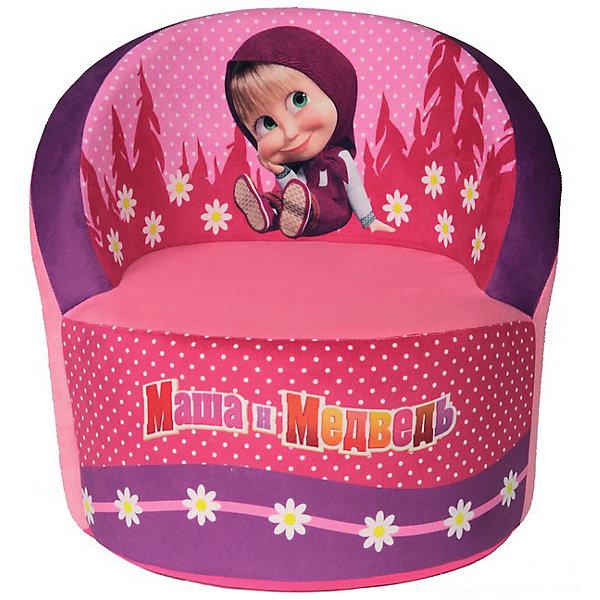 Мягкое кресло скругленное Маша и Медведь, СмолТойс, розовыйДетские мягкие кресла<br>Детям очень важно иметь свои вещи, это касается не только игрушек, но и мебели. Именно поэтому такое кресло станет действительно желанным подарком для малыша. Тем более, что на нем изображены любимые мультяшные герои современных детей - Маша и Медведь.<br>Обивка кресла - очень приятная на ощупь. Наполнитель - мягкий, внутри нет жестких деталей. Кресло легкое, но устойчивое. Детям будет приятно и удобно в нем сидеть или играть. Этот предмет мебели оживит и украсит детскую комнату!<br><br>Дополнительная информация:<br><br>цвет: разноцветный;<br>материал: трикотаж, пенополиуретан;<br>украшено изображением Маши и Медведя;<br>размер: 53 х 32 х 45 см.<br><br>Мягкое кресло скругленное Маша и Медведь от можно купить в нашем магазине.<br><br>Ширина мм: 40<br>Глубина мм: 40<br>Высота мм: 45<br>Вес г: 860<br>Возраст от месяцев: 36<br>Возраст до месяцев: 1188<br>Пол: Унисекс<br>Возраст: Детский<br>SKU: 3440345