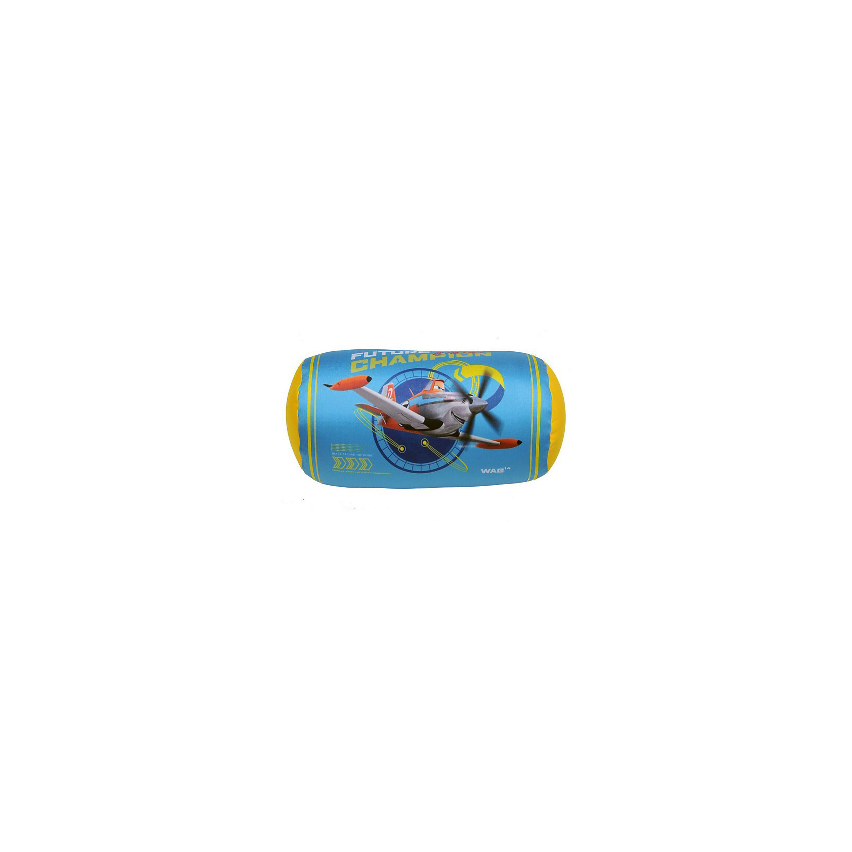 Подушка антистресс валик Самолеты 18*35, арт. 52765, Small Toys, голубой от myToys