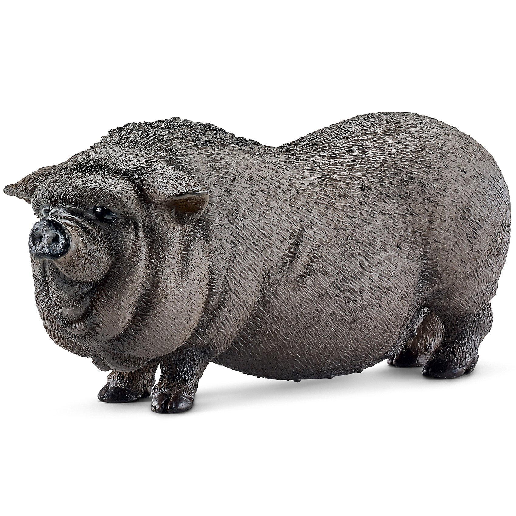 Вьетнамская вислобрюхая свинья, SchleichВьетнамская вислобрюхая свинья, Schleich (Шляйх) - коллекционная и игровая фигурка от немецкого производителя Schleich (Шляйх).<br>Фигурка вьетнамской вислобрюхой свиньи станет прекрасным пополнением коллекции фигурок вашего ребенка и сделает его игру интереснее. Вьетнамская вислобрюхая свинья была выведена в Юго-Восточной Азии. Они имеют широкое длинное тело и маленькие ножки, что делает эту породу малоподвижной и неповоротливой. Вьетнамские вислобрюхие свиньи использовались даже в качестве домашних животных, сейчас они представлены только в зоопарках. Все фигурки Schleich (Шляйх) сделаны из гипоаллергенных высокотехнологичных материалов, раскрашены вручную и не вызывают аллергии у ребенка. Прекрасно выполненные фигурки Шляйх отличаются высочайшим качеством игрушек ручной работы. Все они создаются при постоянном сотрудничестве с Берлинским зоопарком, а потому, являются максимально точной копией настоящих животных. Каждая фигурка разработана с учетом исследований в области педагогики и производится как настоящее произведение для маленьких детских ручек.<br><br>Дополнительная информация:<br><br>-Размер фигурки: 3 x 7,6 x 3,6 см.<br>-Вес фигурки: 41 грамм<br>-Материал: каучуковый пластик<br><br>Вьетнамская вислобрюхая свинья, Schleich (Шляйх) - ваш ребенок будет наслаждаться игрой с новой восхитительной фигуркой.<br><br>Фигурку Вьетнамской вислобрюхой свиньи, Schleich (Шляйх) можно купить в нашем интернет-магазине.<br><br>Ширина мм: 86<br>Глубина мм: 55<br>Высота мм: 32<br>Вес г: 41<br>Возраст от месяцев: 36<br>Возраст до месяцев: 96<br>Пол: Унисекс<br>Возраст: Детский<br>SKU: 3443117