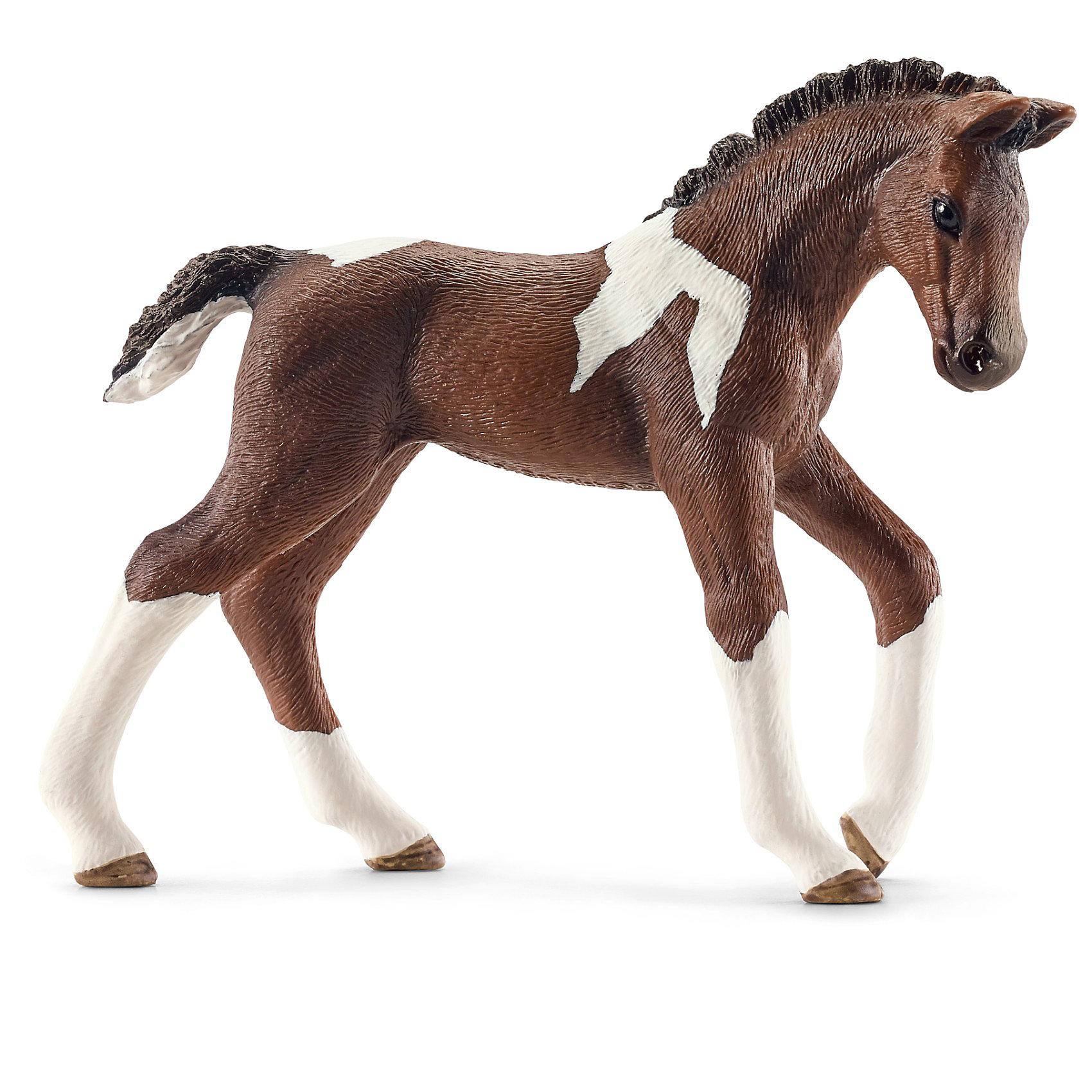 Тракененская лошадь: жеребенок, SchleichМир животных<br>Тракененская лошадь: жеребенок, Schleich (Шляйх) - коллекционная и игровая фигурка от немецкого производителя Schleich (Шляйх).<br>Очаровательная фигурка пятнистого жеребенка Тракененской лошади  разнообразит игру вашего ребенка и станет достойным пополнением его коллекции фигурок от Schleich (Шляйх). Тракененская порода лошадей является чистокровной породой верховой лошади и является настоящим идеалом для современной спортивной езды. Они очень талантливы и легко поддаются дрессировке. Тракененская порода лошадей достигает в высоту 160 см и бывает самых разных расцветок. Все фигурки Schleich (Шляйх) сделаны из гипоаллергенных высокотехнологичных материалов, раскрашены вручную и не вызывают аллергии у ребенка. Прекрасно выполненные фигурки Schleich (Шляйх) отличаются высочайшим качеством игрушек ручной работы. Все они создаются при постоянном сотрудничестве с Берлинским зоопарком, а потому, являются максимально точной копией настоящих животных. Каждая фигурка разработана с учетом исследований в области педагогики и производится как настоящее произведение для маленьких детских ручек.<br><br>Дополнительная информация:<br><br>-Размер фигурки: 2,5 x 8,9 x 7,1 см.<br>-Вес фигурки: 41 грамм<br>-Материал: каучуковый пластик<br><br>Тракененская лошадь: жеребенок, Schleich (Шляйх) - ваш ребенок будет наслаждаться игрой с новой восхитительной игрушкой.<br><br>Фигурку Тракененской лошади: жеребенка, Schleich (Шляйх) можно купить в нашем интернет-магазине.<br><br>Ширина мм: 104<br>Глубина мм: 121<br>Высота мм: 25<br>Вес г: 36<br>Возраст от месяцев: 36<br>Возраст до месяцев: 96<br>Пол: Женский<br>Возраст: Детский<br>SKU: 3443128