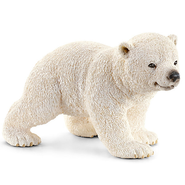 Белый медвежонок, SchleichМир животных<br>Белый медвежонок, Schleich (Шляйх) - коллекционная и игровая фигурка от немецкого производителя Schleich (Шляйх).<br>Фигурка очаровательного белого медвежонка с черными глазками обязательно понравится вашему ребенку и станет прекрасным дополнением его коллекции фигурок от Schleich (Шляйх). Белые медведи, как и медведи Гризли, являются одними из самых крупных хищников на планете, их длина составляет 3 метра. Благодаря толстому слою жира и плотной шкуре, они способны выдерживать экстремально низкие температуры арктического холода. Это также позволяет им плавать в воде нулевой температуры и добывать себе рыбу. Белые медведи прекрасные пловцы и имеют очень чуткий нюх. Все фигурки Schleich (Шляйх) сделаны из гипоаллергенных высокотехнологичных материалов, раскрашены вручную и не вызывают аллергии у ребенка. Прекрасно выполненные фигурки Schleich (Шляйх) отличаются высочайшим качеством игрушек ручной работы. Все они создаются при постоянном сотрудничестве с Берлинским зоопарком, а потому, являются максимально точной копией настоящих животных. Каждая фигурка разработана с учетом исследований в области педагогики и производится как настоящее произведение для маленьких детских ручек.<br><br>Дополнительная информация:<br><br>-Размер фигурки: 4,1 x 6,6 x 4,1 см.<br>-Вес фигурки: 9 грамм<br>-Материал: каучуковый пластик<br><br>Белый медвежонок, Schleich (Шляйх) - ваш ребенок будет наслаждаться игрой с новой восхитительной игрушкой.<br><br>Фигурку Белого медвежонка, Schleich (Шляйх) можно купить в нашем интернет-магазине.<br>Ширина мм: 73; Глубина мм: 50; Высота мм: 35; Вес г: 29; Возраст от месяцев: 36; Возраст до месяцев: 96; Пол: Унисекс; Возраст: Детский; SKU: 3443135;