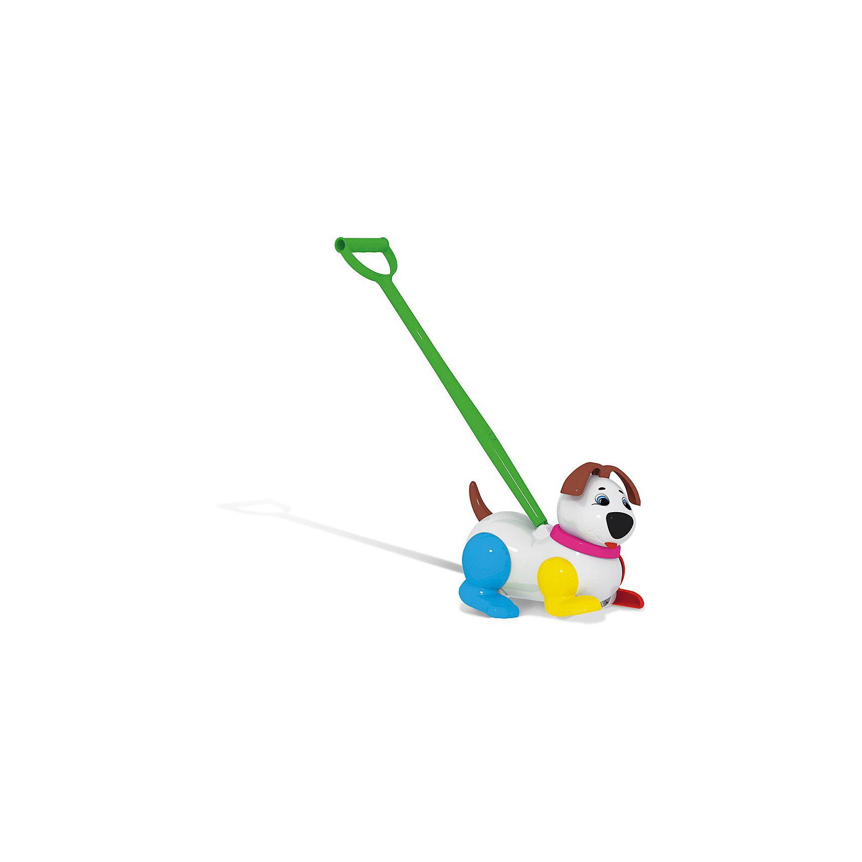 Каталка Собачка, СтелларИгрушки-каталки<br>Каталка Собачка, Стеллар (Stellar) -  яркая и оригинальная игрушка, которая не может не понравится! При движении собачка двигает лапками и пищит.<br><br>Каталка стимулирует малышей к активным движениям и развитию. В процессе игры развивается общая моторика, умение управлять своим телом.<br><br>Гулять с такой симпатичной игрушкой - одно удовольствие.<br><br>Дополнительная информация:<br><br>- Материал: пластмасса<br>- Размер упаковки: 255 х 375 х 375 мм<br>- Вес: 730 г.<br><br>Игрушку Каталка Собачка, Стеллар (Stellar) можно купить в нашем интернет-магазине.<br><br>Ширина мм: 255<br>Глубина мм: 375<br>Высота мм: 375<br>Вес г: 730<br>Возраст от месяцев: 12<br>Возраст до месяцев: 36<br>Пол: Унисекс<br>Возраст: Детский<br>SKU: 3446476
