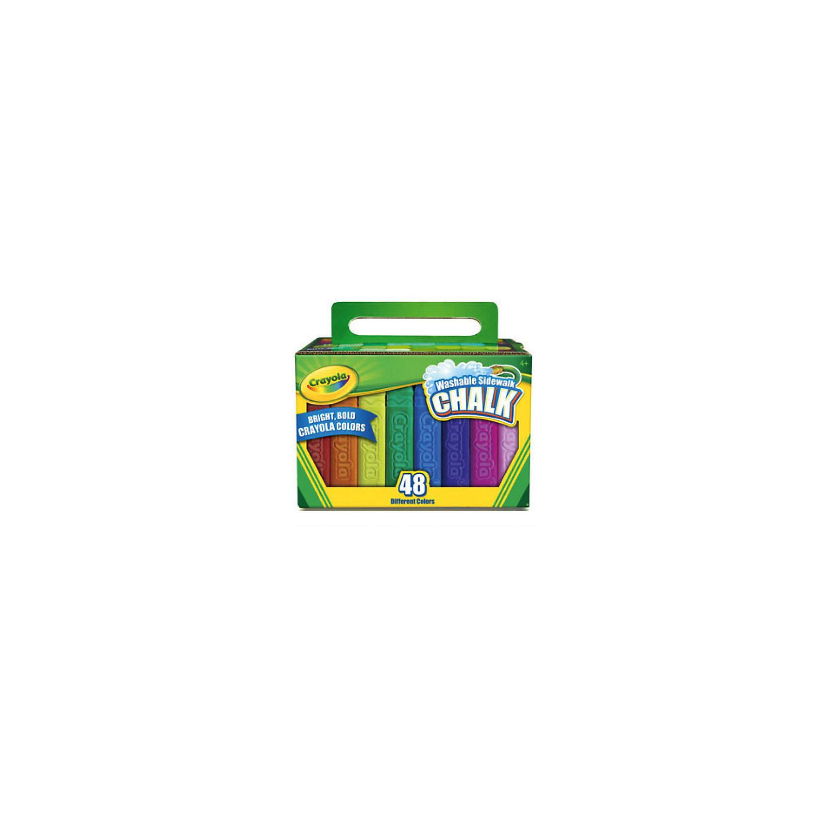 Мел для рисования на асфальте, 48 шт., CrayolaЭто самый большой набор из серии смываемых мелков Crayola (Крайола). В компактном картонном сундучке вы найдете 48 различных оттенков, с помощью которых можно нарисовать все, что угодно. <br>Каждый мелок размером 10х2,5 см благодаря своей уникальной утолщенной форме обладает повышенной ударопрочностью. При падении на асфальт или сильном нажиме мелок не раскалывается, что позволяет ему максимально долго радовать юного художника. <br>Еще одно достоинство новых мелков Crayola (Крайола) – невероятно яркие, насыщенные цвета. Ваш рисунок будет выгодно отличаться от прочих. <br>Мелки действительно смываются. Для этого нужно просто полить необходимый участок водой, и изображение исчезнет. Так же легко от мелков очищаются детские руки и одежда.<br><br>Дополнительная информация:<br><br>Размер каждого мелка: 10х2,5 см<br>Размеры коробки: 12х17,1х13 см.<br><br>Мел для рисования на асфальте, 48 шт., Crayola можно купить в нашем магазине.<br><br>Ширина мм: 179<br>Глубина мм: 132<br>Высота мм: 129<br>Вес г: 1456<br>Возраст от месяцев: 48<br>Возраст до месяцев: 96<br>Пол: Унисекс<br>Возраст: Детский<br>SKU: 3449168