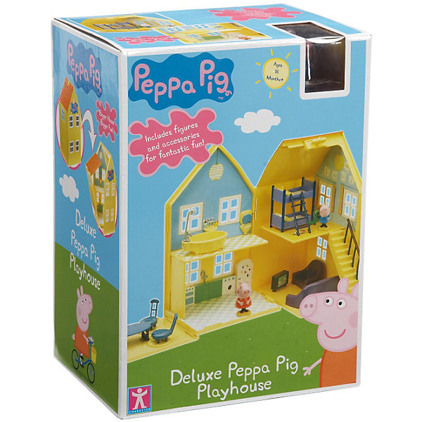 Игровой набор Домик Пеппы, Свинка ПеппаИгрушки<br>Игровой набор Домик Пеппы, Свинка Пеппа<br><br>Коллекция игрушек Peppa Pig создана на основе мультипликационного фильма про веселые приключения Свинки  Пеппы и ее семьи и друзей. <br><br>Дополнительная информация:<br><br>Размер домика в сложенном виде: 18,5 х 14,5 х 31,5 см.<br>Размер домика в развернутом виде: 72,5 х 14,5 х 31,5 см.<br>Размеры упаковки: 18 х 24 х 33,5 см.<br>В наборе: домик раскладывающийся, мебель (кровать, диван, кресло, телевизор, стол, стулья), фигурка Пеппы и Джорджа.<br>Упаковка - коробка с окном.<br><br>Игровой набор Домик Пеппы, Свинка Пеппа можно купить в нашем интернет - магазине.<br>Ширина мм: 335; Глубина мм: 240; Высота мм: 180; Вес г: 1270; Возраст от месяцев: 36; Возраст до месяцев: 72; Пол: Женский; Возраст: Детский; SKU: 3458423;