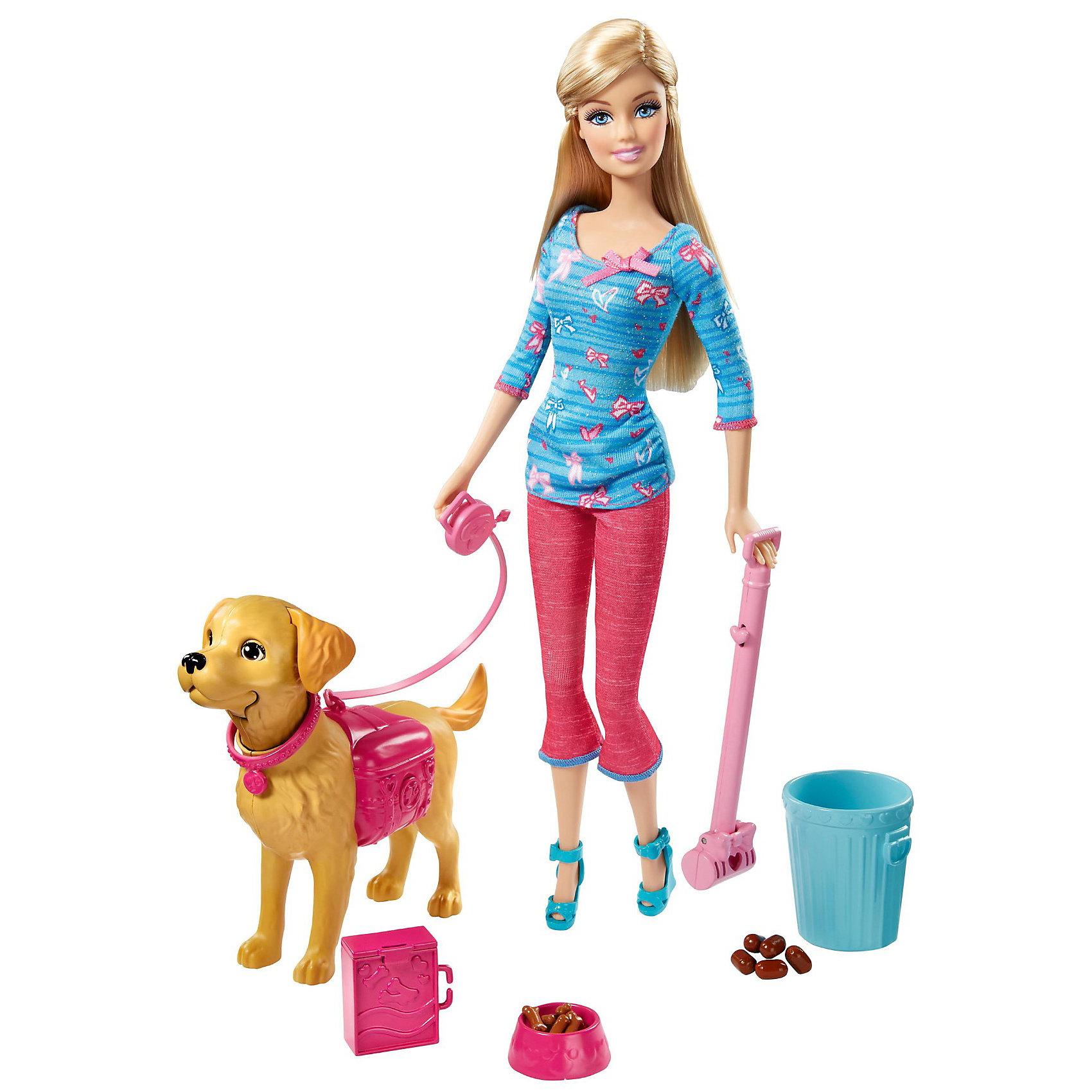 Кукла Барби выгуливает собачку, Barbie