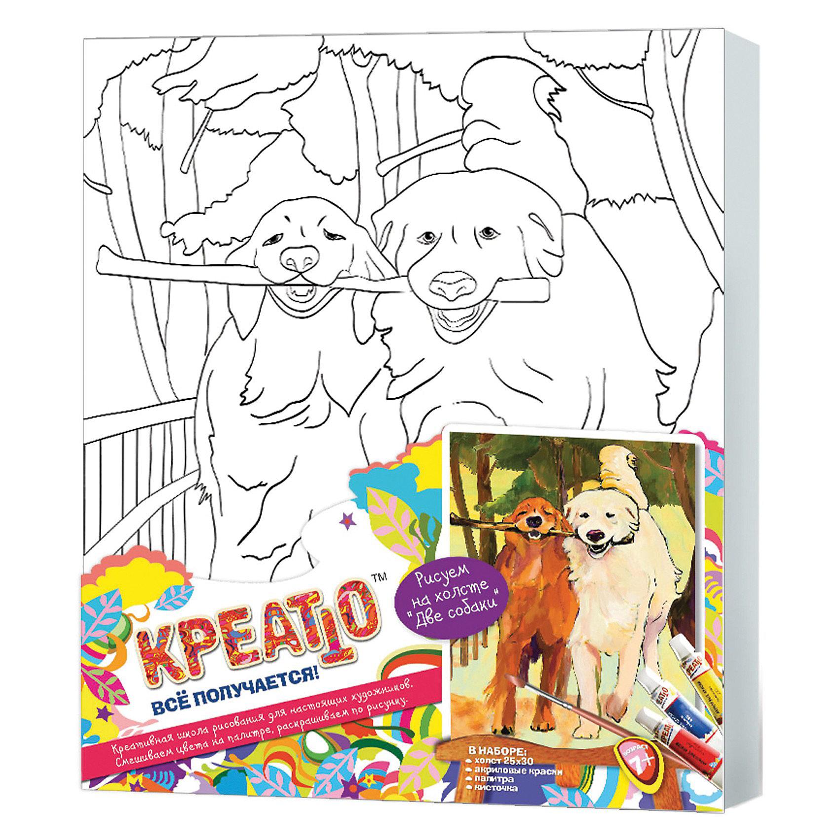 Креатто Набор Роспись по холсту 2 собаки, Росмэн раскраски росмэн роспись по холсту пони