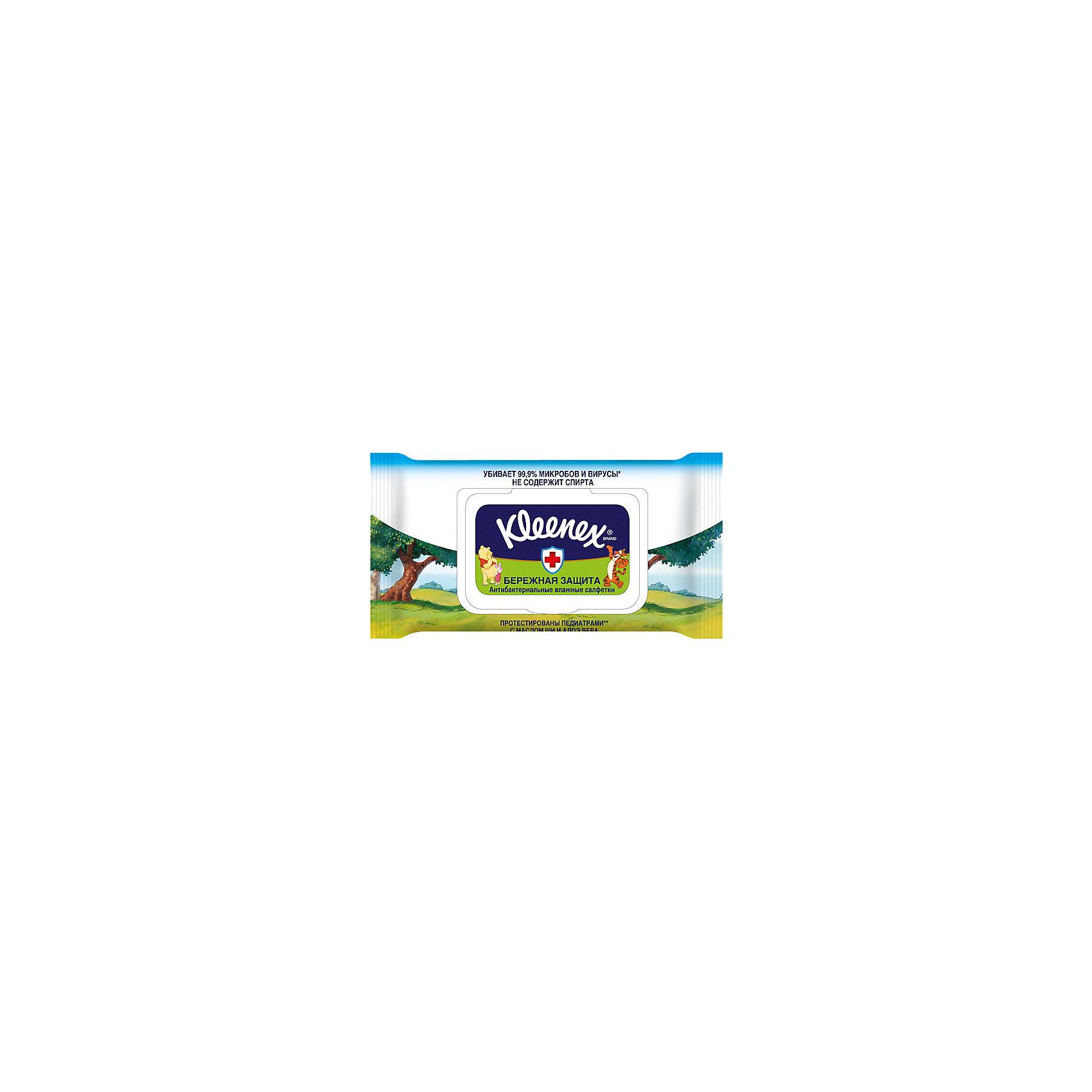Kleenex Антибактериальные влажные салфетки Kleenex Disney, 40 шт. батарейка a23 ergolux lr23a 12296 1 штука