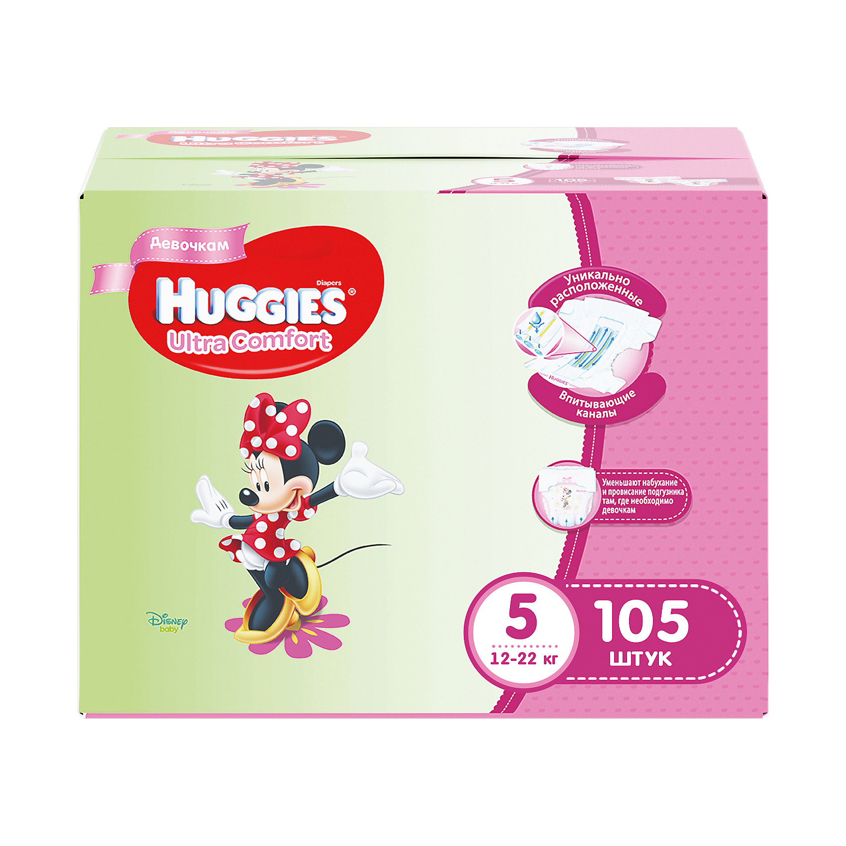 ���������� Huggies Ultra Comfort ��� ������� Disney Box (5) 12-22 ��, 105 ��. (35�3) (HUGGIES)