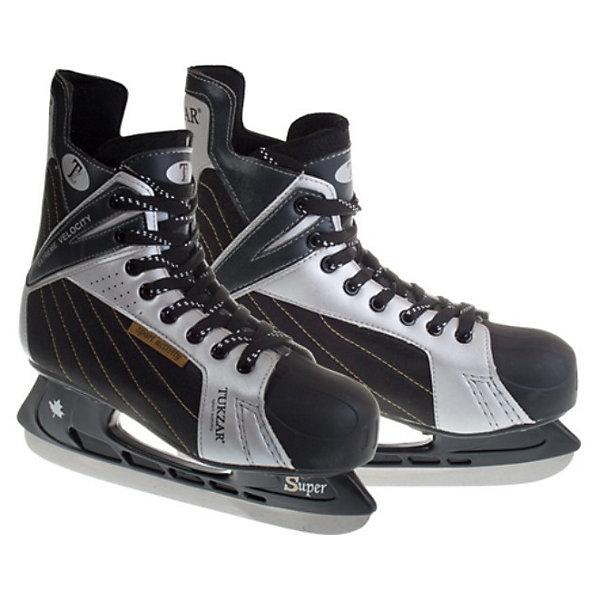 Хоккейные коньки, TUKZARКоньки<br>Хоккейные коньки, TUKZAR - удобные хоккейные коньки для мальчиков.<br><br>Дополнительная информация:<br><br>- Ботинок : морозоустойчивая искусственная кожа/нейлон.<br> - Войлочный язычок. <br>- Подкладка: вельвет.<br>- Мыс: полиуретан.<br>- Стакан: ударопрочный пластик.<br>-  Лезвие: хоккейное-нержавеющая сталь.<br>- Размер:<br><br>Хоккейные коньки, TUKZAR можно купить  в нашем интернет-магазине.<br><br>Ширина мм: 470<br>Глубина мм: 300<br>Высота мм: 110<br>Вес г: 2030<br>Цвет: черный/белый<br>Возраст от месяцев: 108<br>Возраст до месяцев: 120<br>Пол: Мужской<br>Возраст: Детский<br>Размер: 33,38,34,35<br>SKU: 3472401