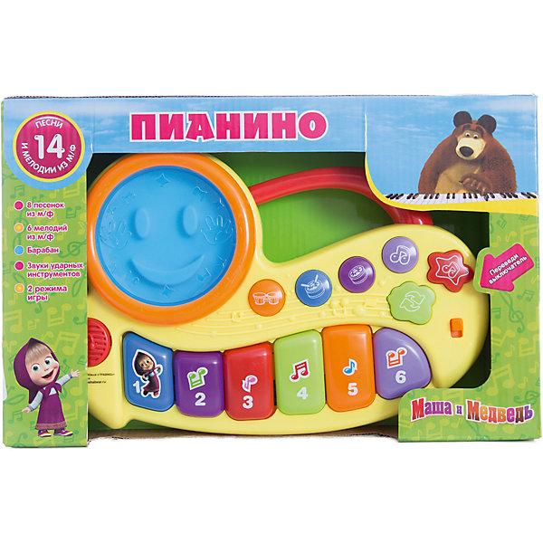 Пианино Маша и медведь, со светом, Играем вместеПианино<br>Пианино Маша и медведь, со светом, Играем вместе. Теперь придумывать свою музыку стало еще интереснее, а герои любимого мультфильма Маша и Медведь помогут Вашему ребенку в этом! <br><br>Пианино имеет два режима работы:<br><br>- Режим проигрывания песенок. Нажимая на кнопочку, ребенок будет слышать песенку<br>- Режим свободной игры. Ребенок может самостоятельно придумывать свои мелодии, нажимая на клавиши.<br><br>Игрушка выполнена в ярких цветах, которые привлекут внимание вашего малыша.<br><br>Пианино «Маша и Медведь» станет прекрасным подарком для самых маленьких!<br><br>Дополнительная информация:<br><br>- Материал: высококачественная пластмасса<br>- Размеры упаковки(ДхШхВ): 5 x 21 x 33 см<br>- Вес: 470 г.<br>- Размер коробки: 33х21х5 см<br>- Работает от 3 батареек типа АА (в комплект не входят)<br><br>Игрушку Пианино Маша и медведь, со светом, Играем вместе можно купить в нашем интернет-магазине.<br>Ширина мм: 50; Глубина мм: 210; Высота мм: 330; Вес г: 470; Возраст от месяцев: 36; Возраст до месяцев: 1188; Пол: Унисекс; Возраст: Детский; SKU: 3482909;