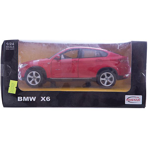 Машина 1:24 BMW X6, RASTARМашинки<br>Машина 1:24 BMW X6, RASTAR уменьшенная копия настоящей машины.<br><br>BMW X6 — среднеразмерный кроссовер класса люкс, выпускаемый компанией BMW. Сама компания классифицирует данный автомобиль как Sports Activity Coup? (SAC) — спортивное купе для активного отдыха.<br>Металлическая модель выполнена в масштабе 1:24 и в точности воспроизводит детали настоящего автомобиля. У коллекционной машины открываются двери и капот.<br> <br>Получить в свое распоряжение машинку BMW X6 - это просто мечта любого ребёнка! <br><br>Дополнительная информация:<br><br>- Материал: металл<br>- Размеры(ДхШхВ): 13 x 24 x 11 см<br>- Вес: 640 г.<br><br>Машину 1:24 BMW X6, RASTAR можно купить в нашем интернет-магазине.<br><br>Ширина мм: 130<br>Глубина мм: 240<br>Высота мм: 110<br>Вес г: 640<br>Возраст от месяцев: 36<br>Возраст до месяцев: 1188<br>Пол: Мужской<br>Возраст: Детский<br>SKU: 3482927