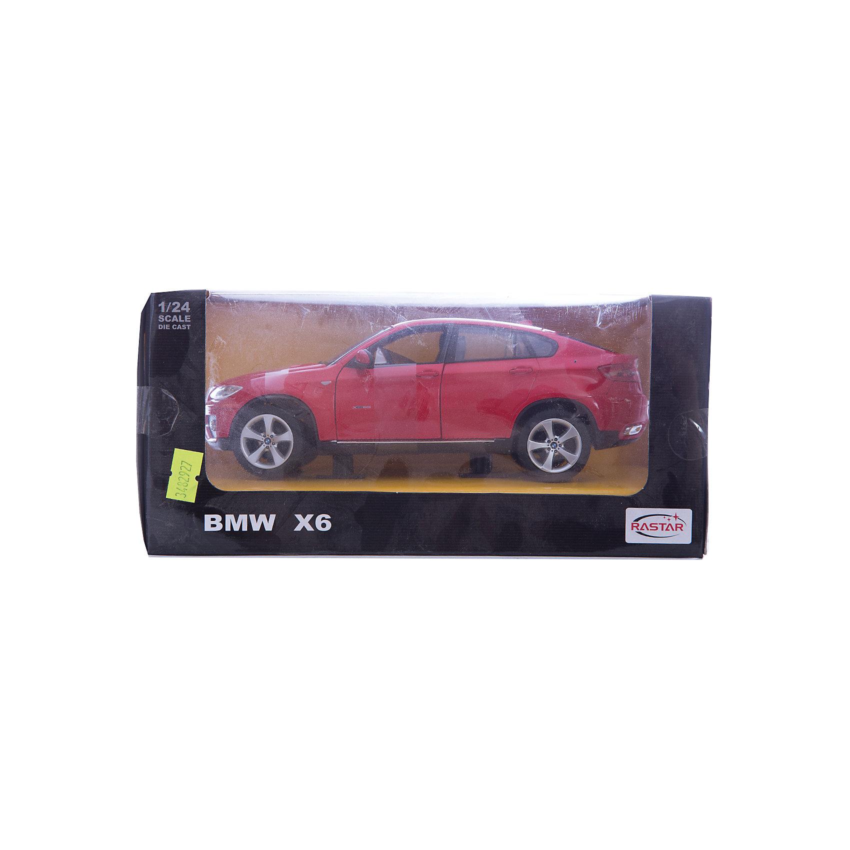 - Машина 1:24 BMW X6, RASTAR машины gk racer series машина р у bmw x6 со светом на батарейках